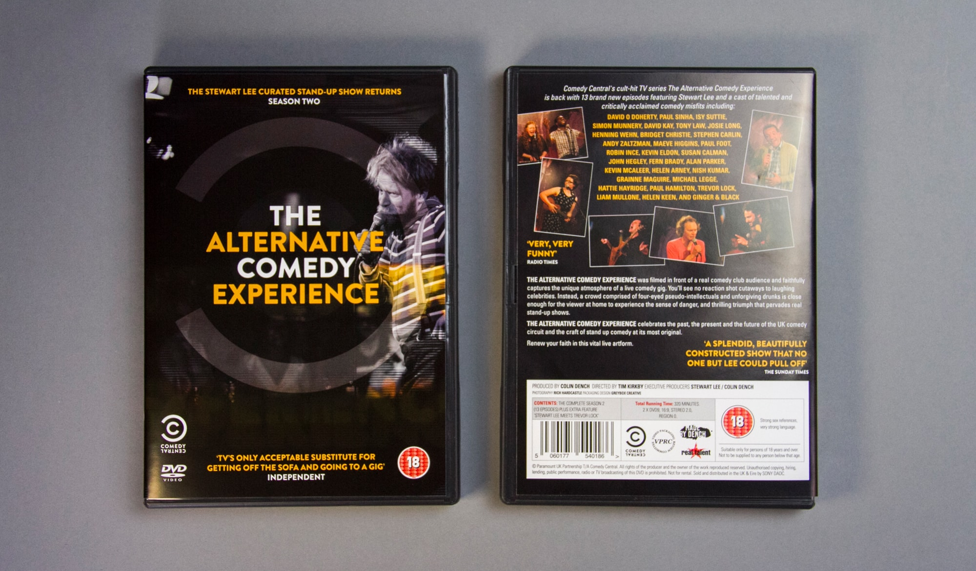 ACE Series 2 DVD front and back