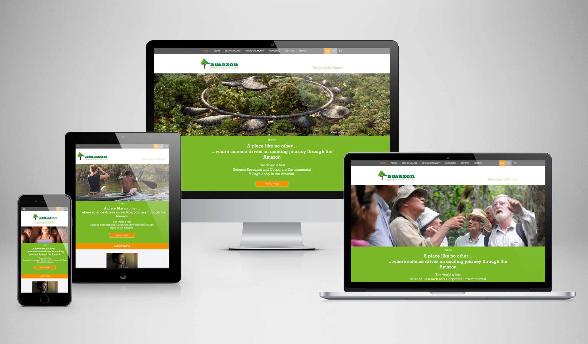 Amazon Charitable Trust responsive website