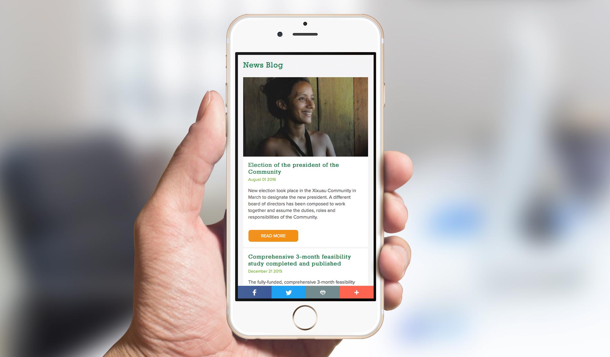 Amazon Charitable Trust mobile website