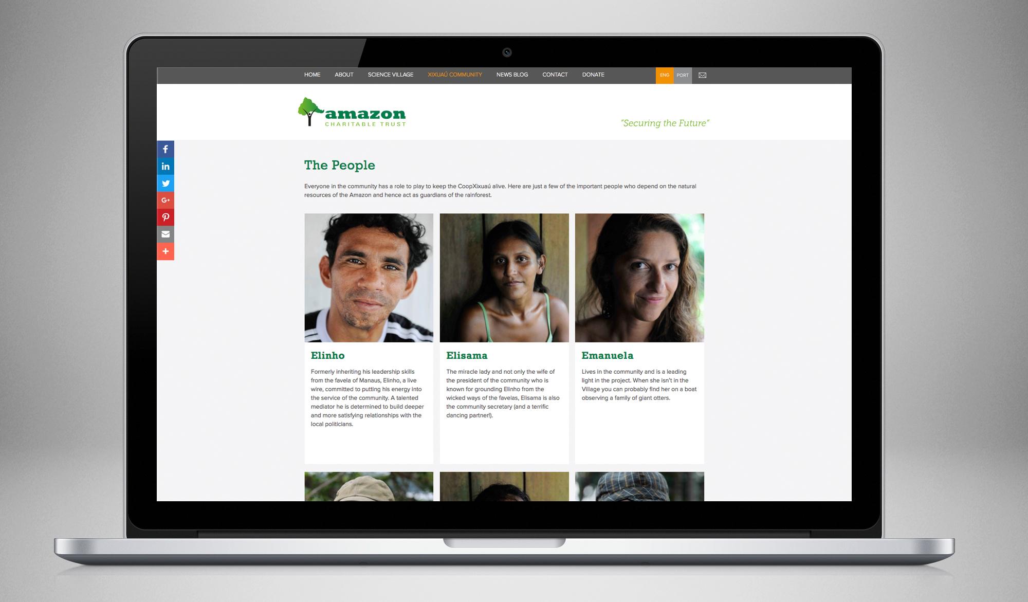Amazon Charitable Trust website