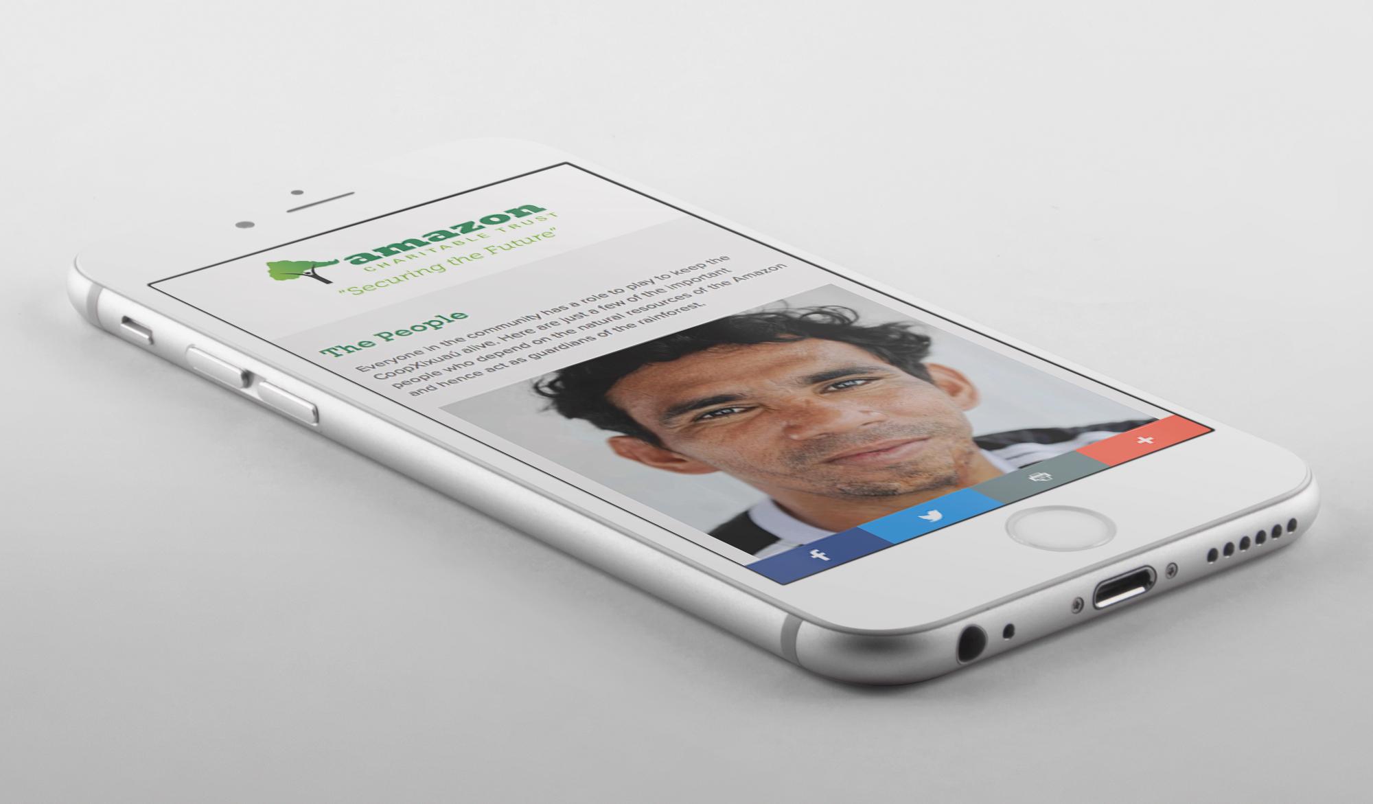 Amazon Charitable Trust mobile