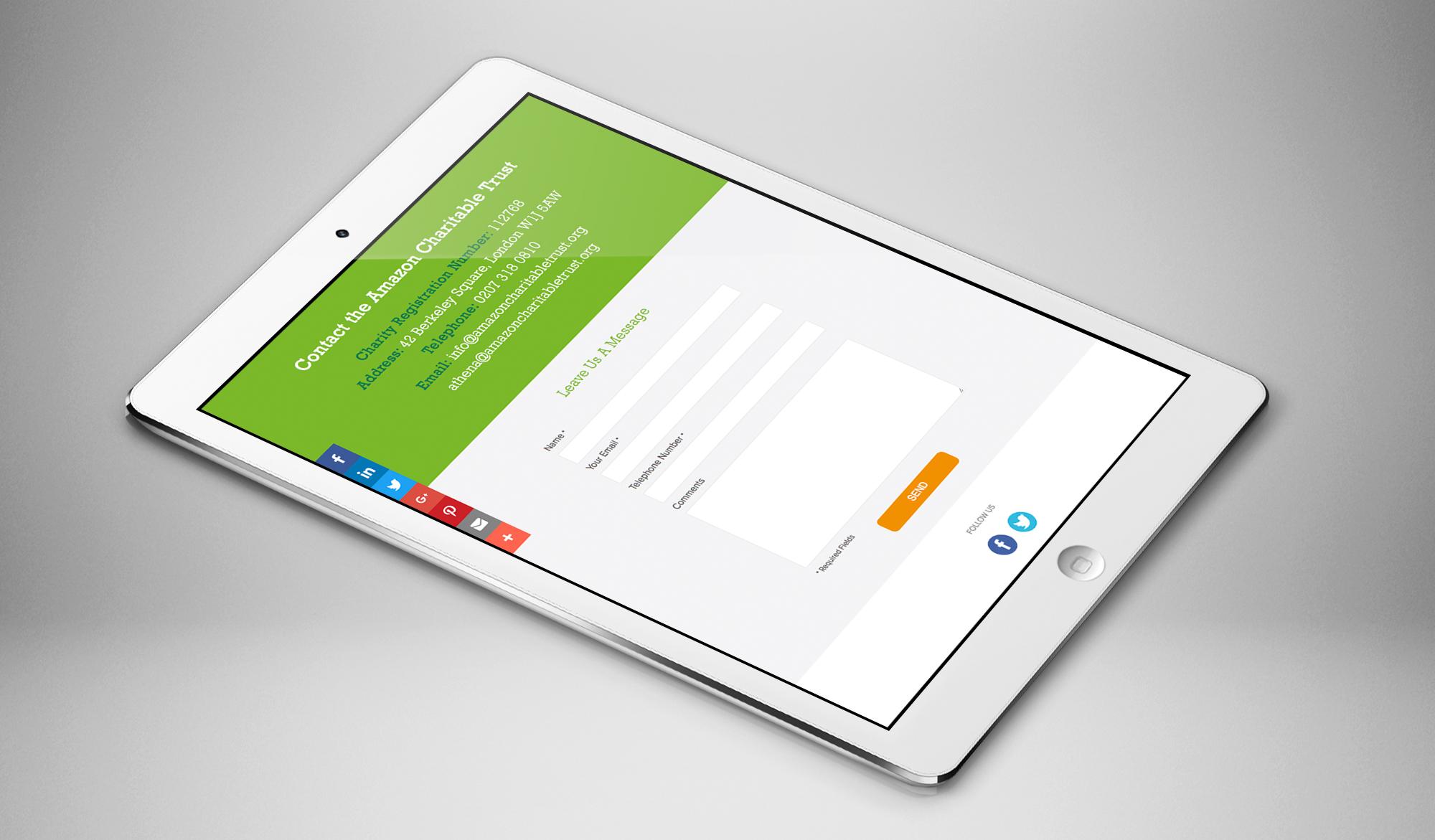 Amazon Charitable Trust tablet