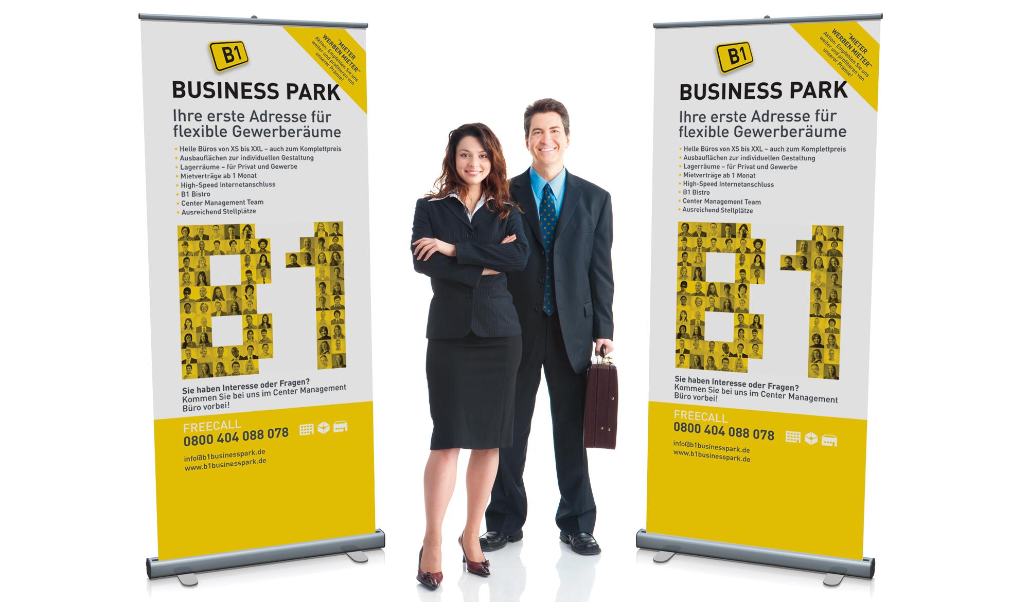 B1 Business Park pop up banner