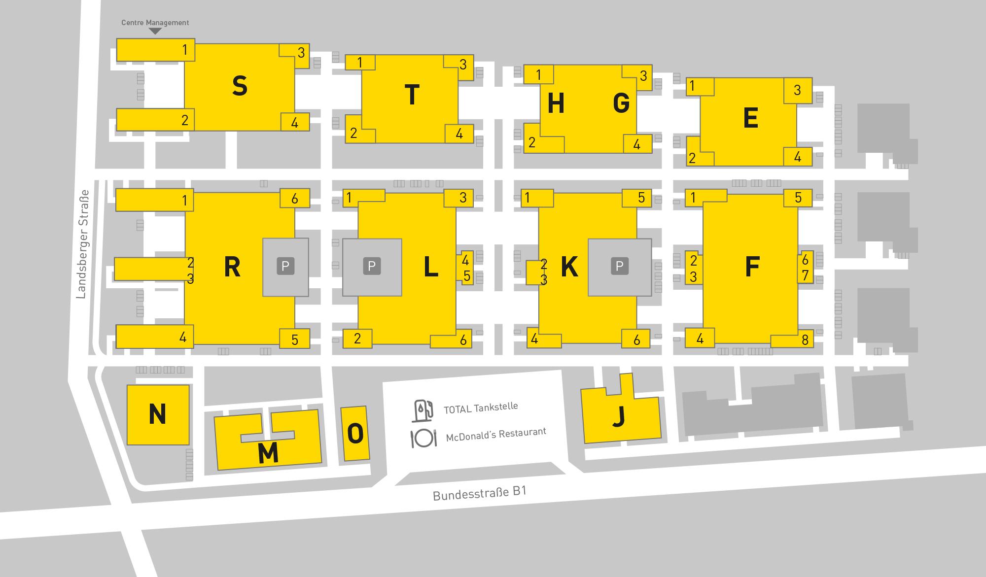 B1 Business Park site plan
