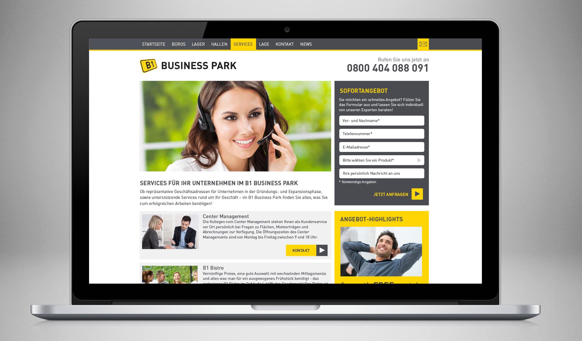 B1 Business Park website