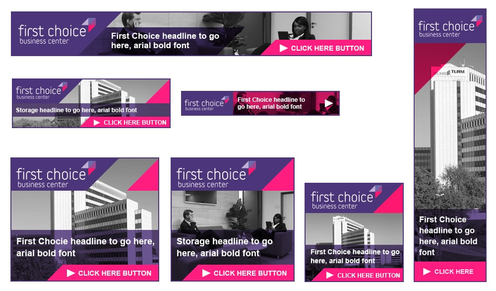 Banner adverts - First choice