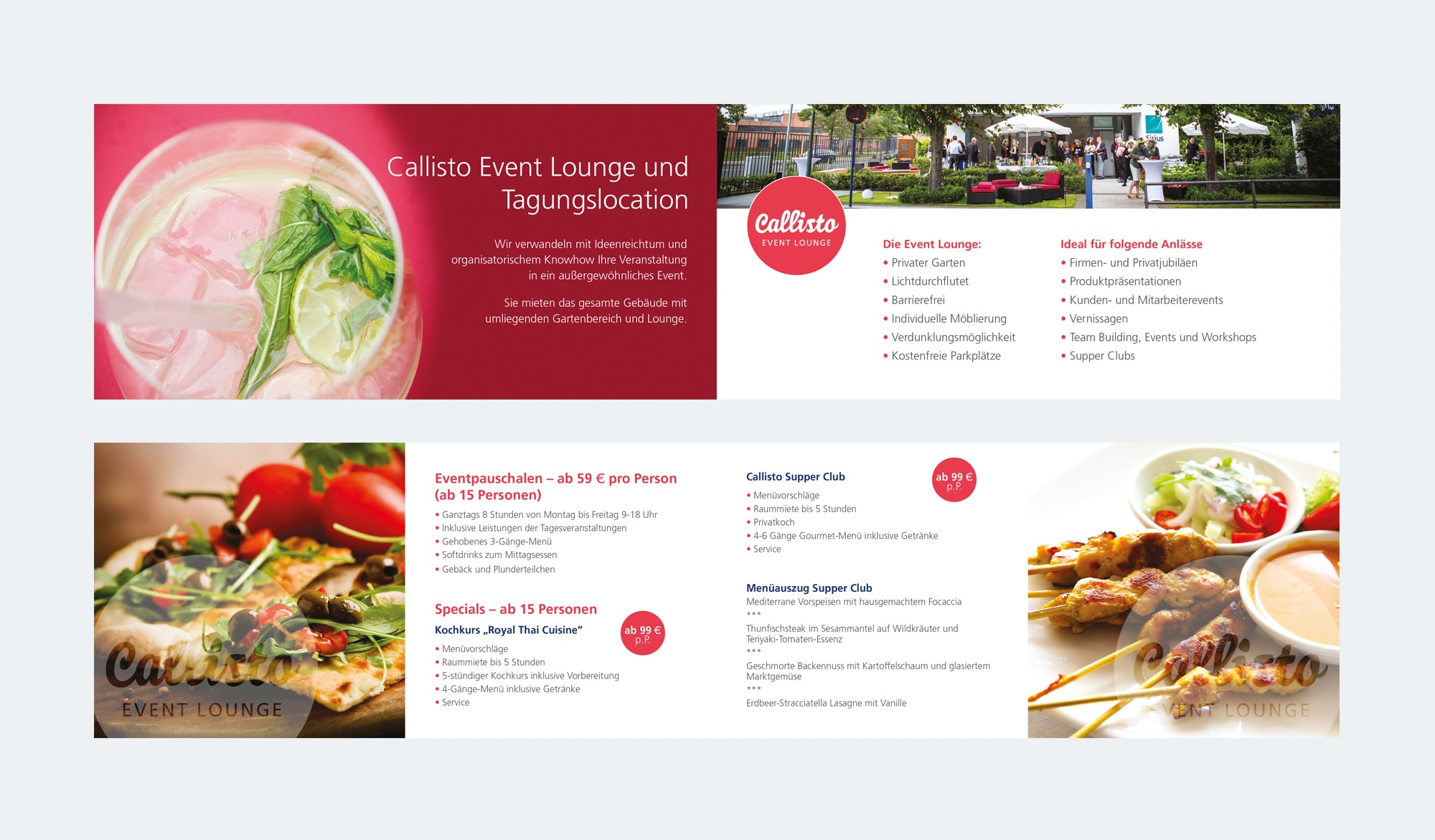 Callisto event lounge - brochure