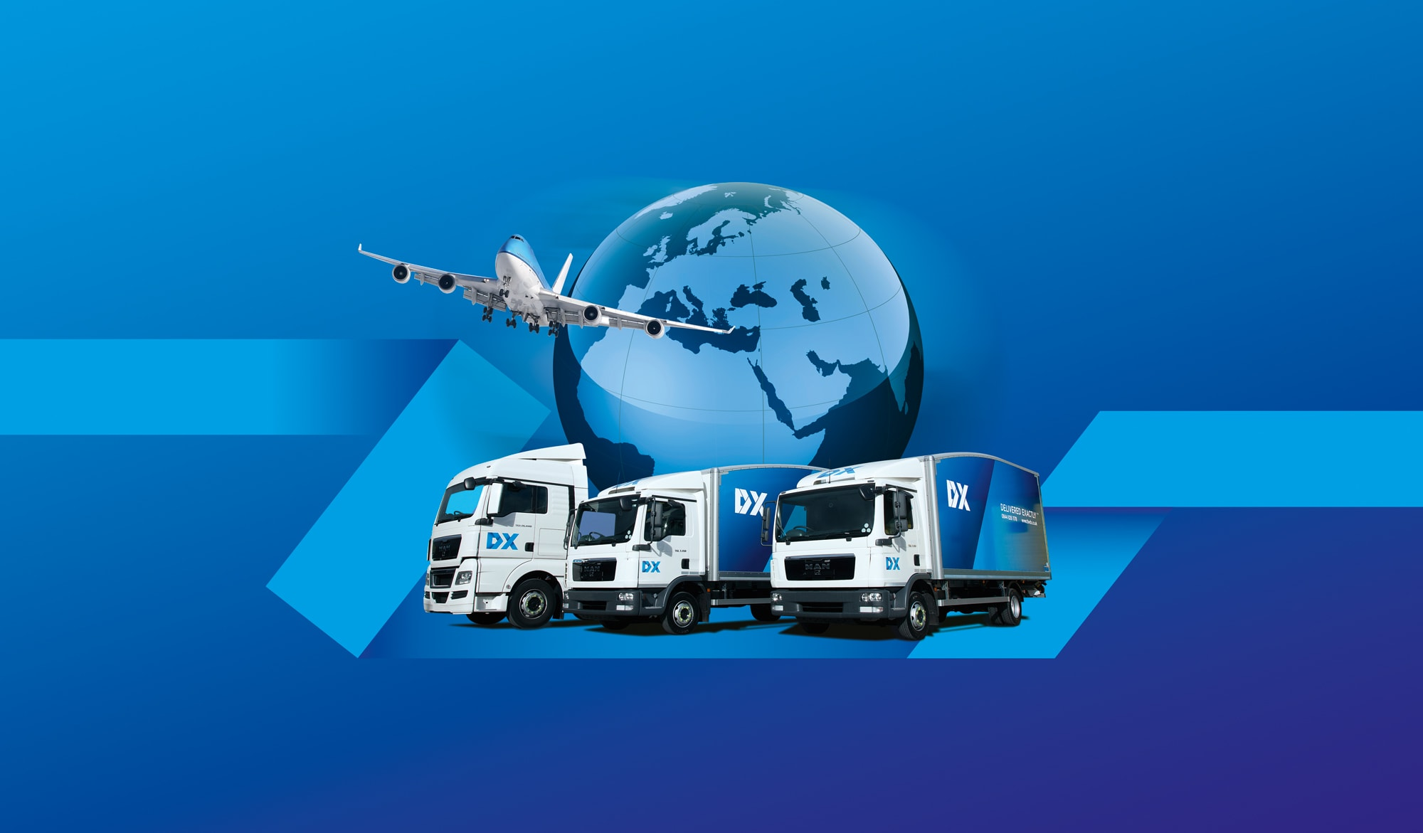 DX freight montage illustration