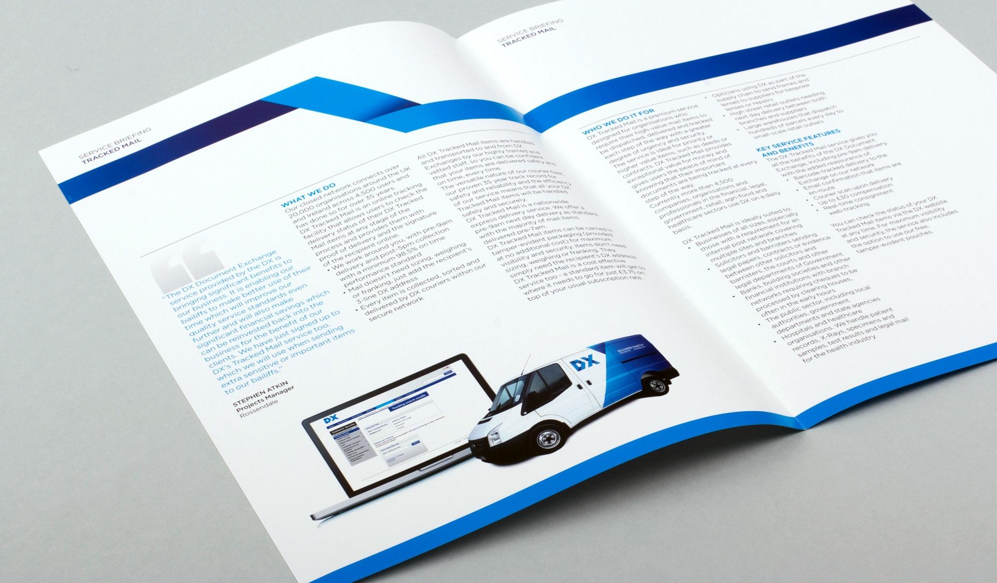 DX service briefing brochure