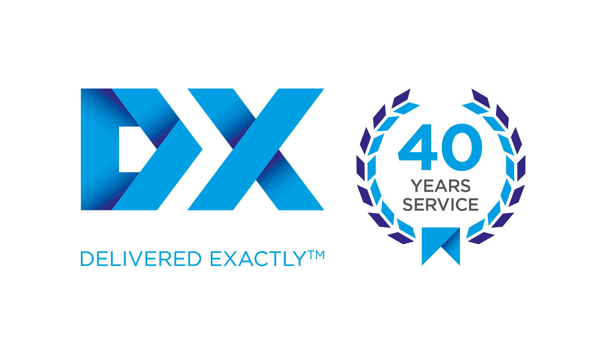 DX 40 year logo