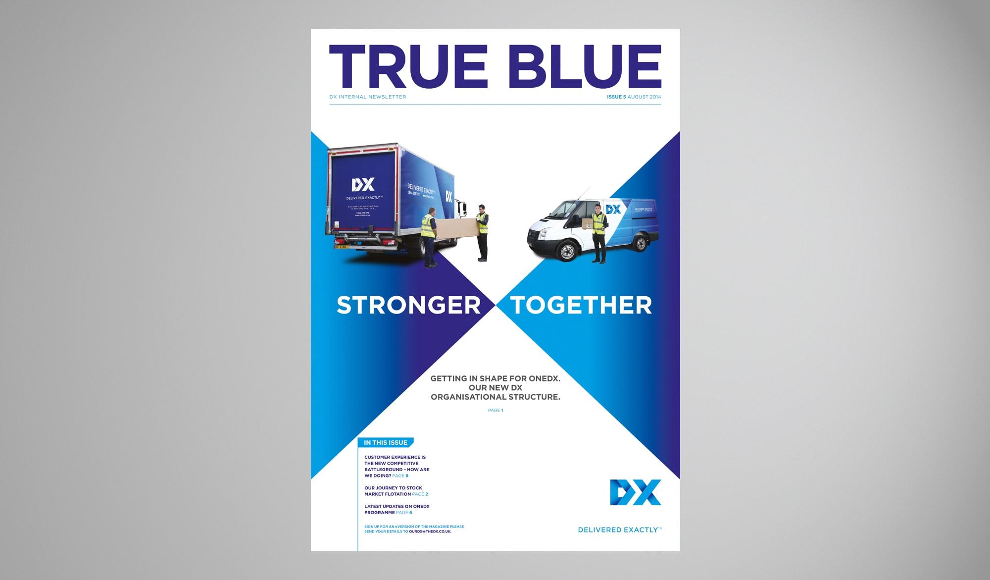 DX internal newsletter for cover