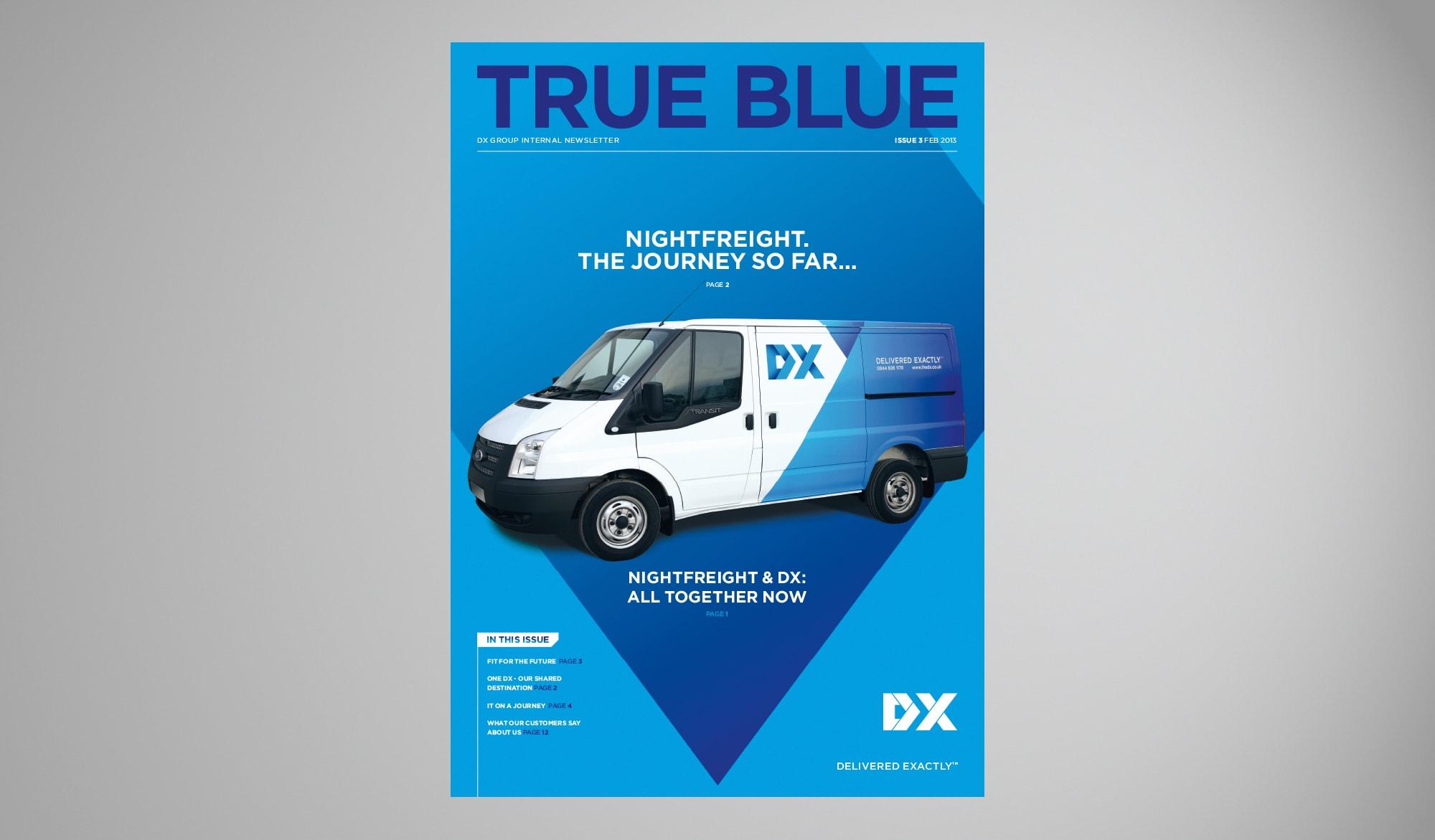 DX true blue newsletter cover