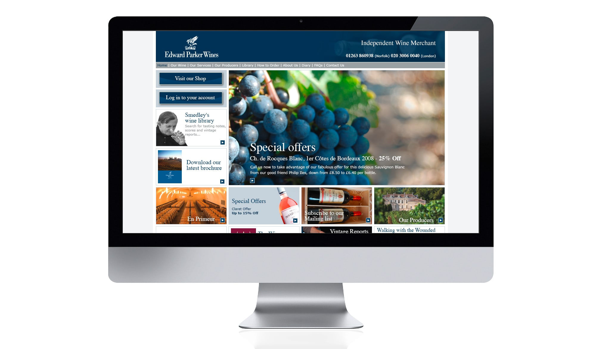 Edward Parker Wines - website