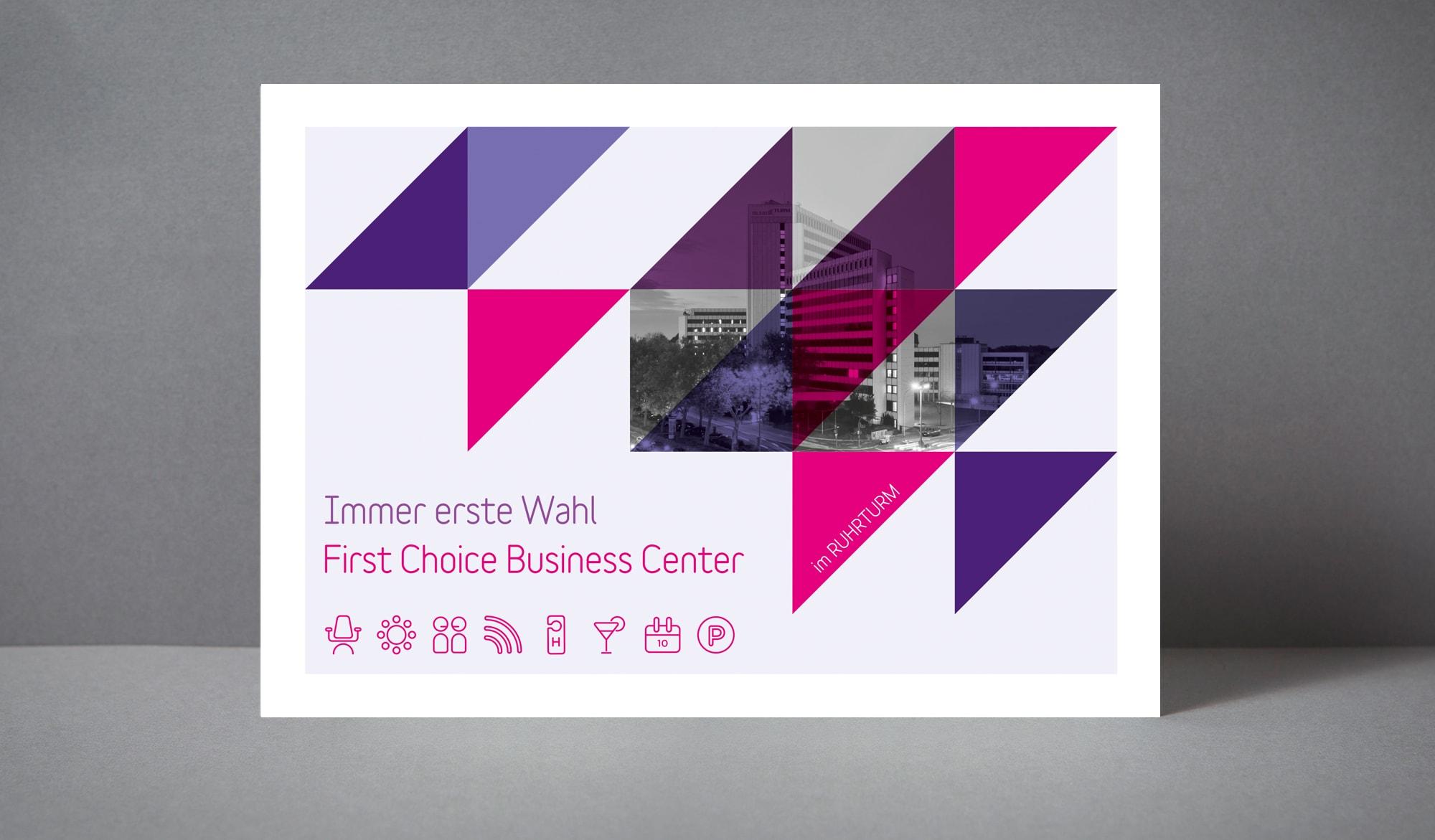 First Choice Business Centre sales postcard