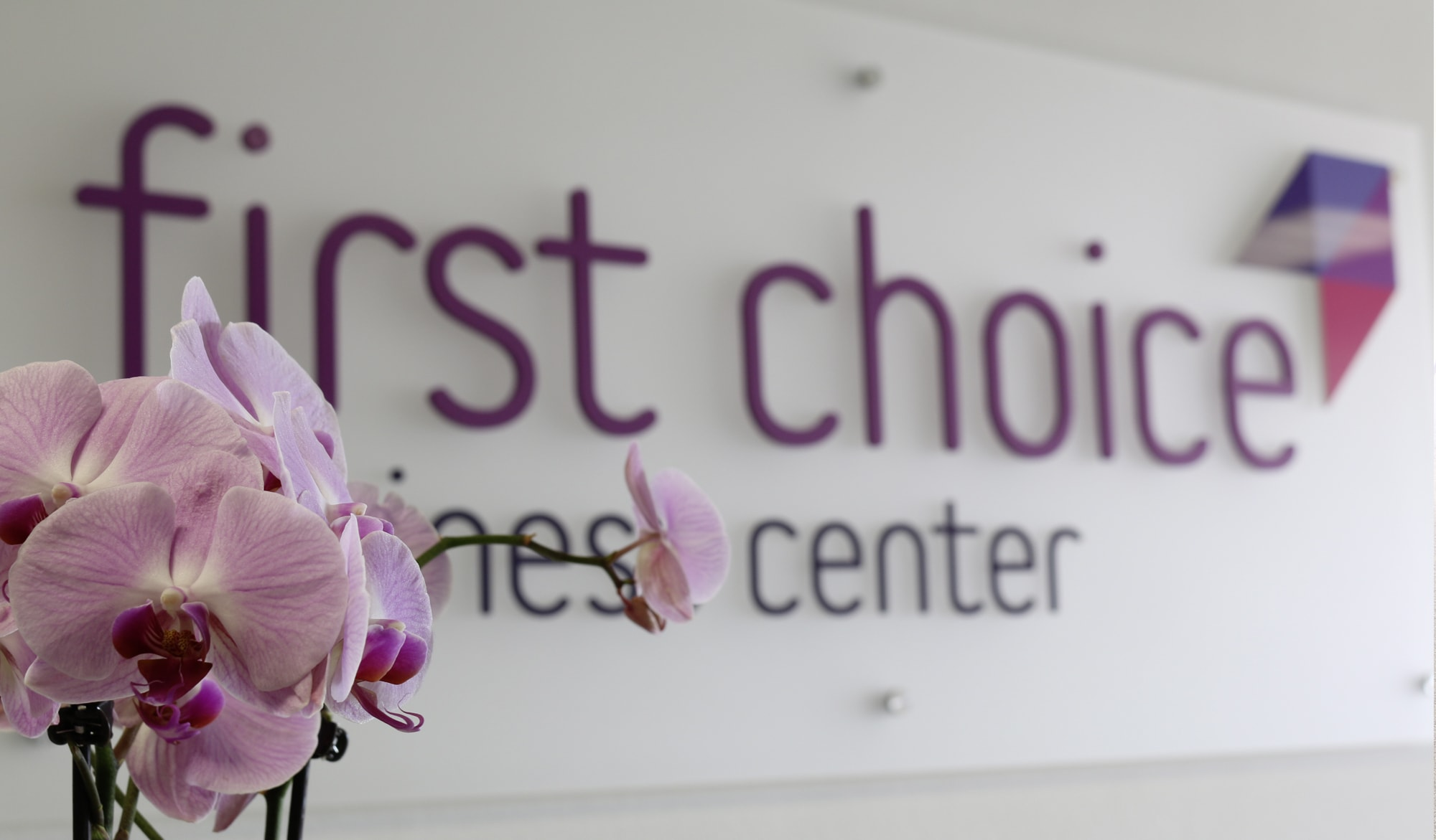 first choice business center signage
