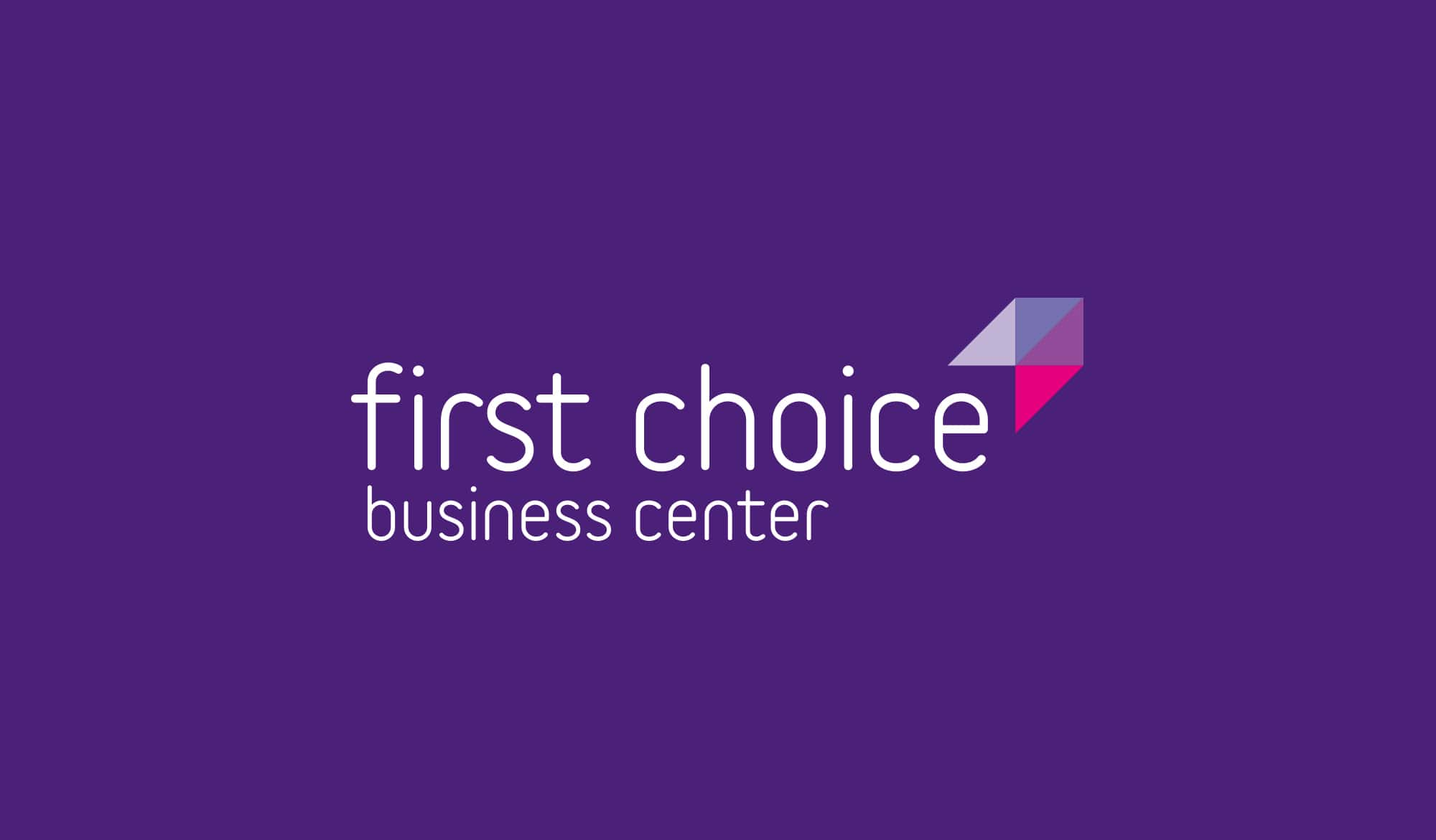 First Choice Business Centre logo reversed