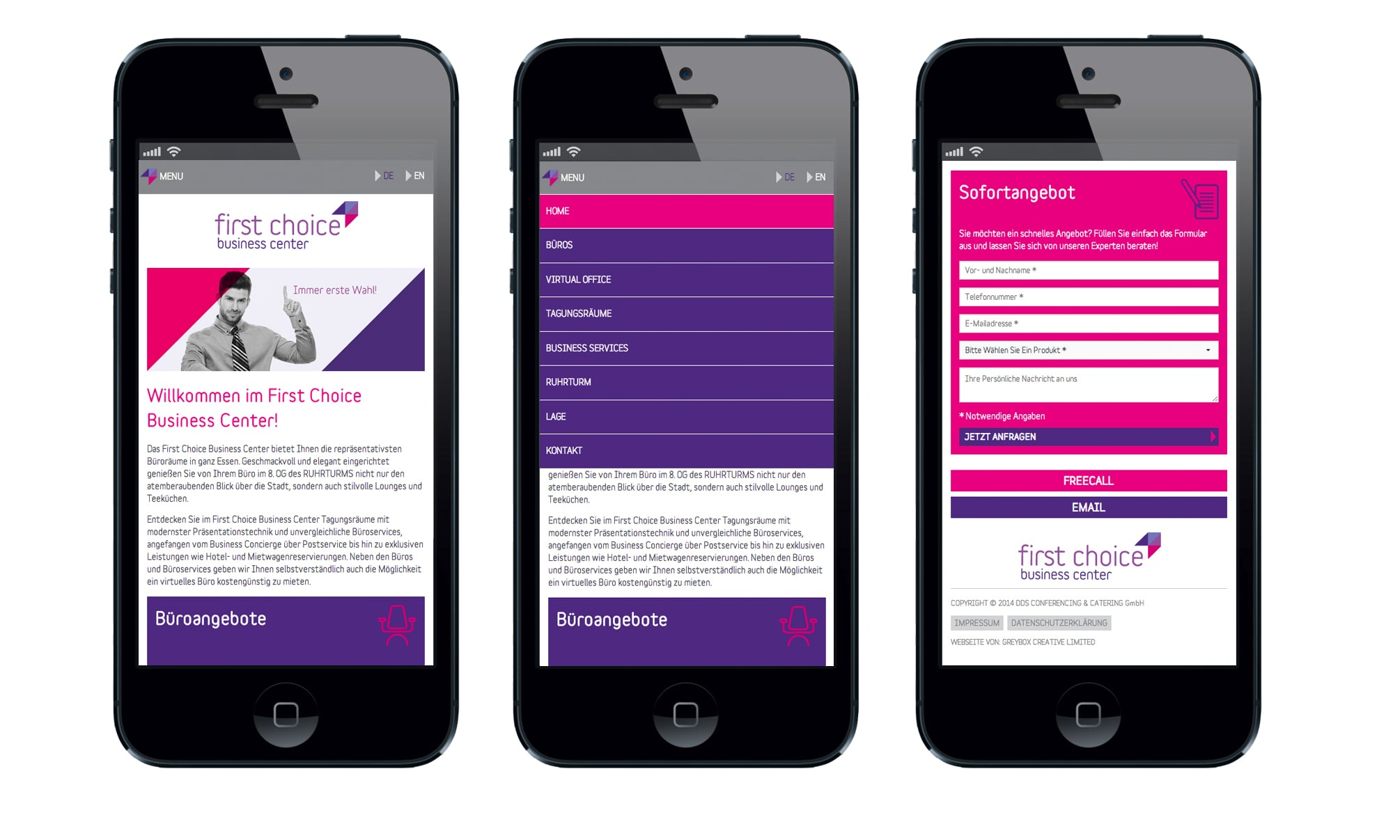 First Choice Business Centre mobile site