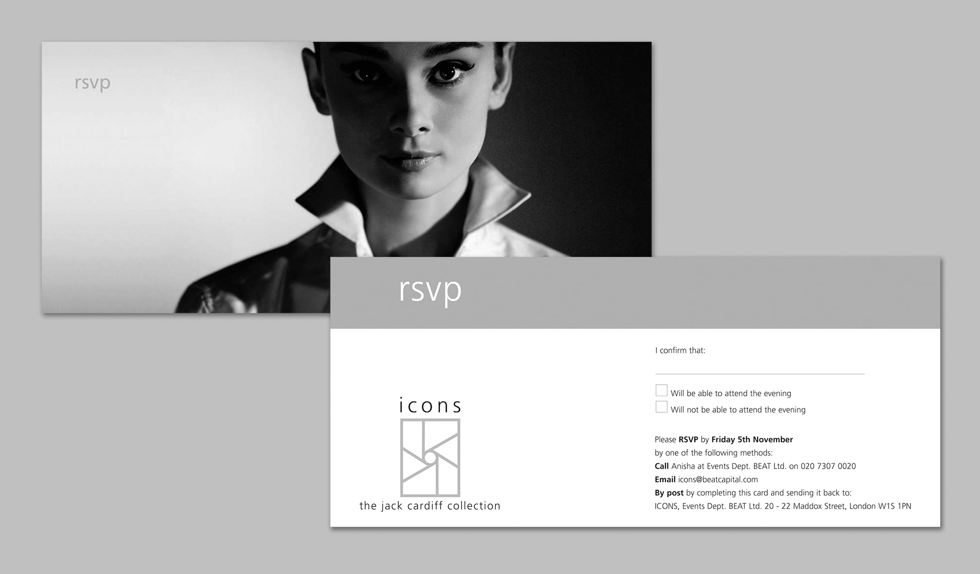 Jack Cardiff Collection - invitation