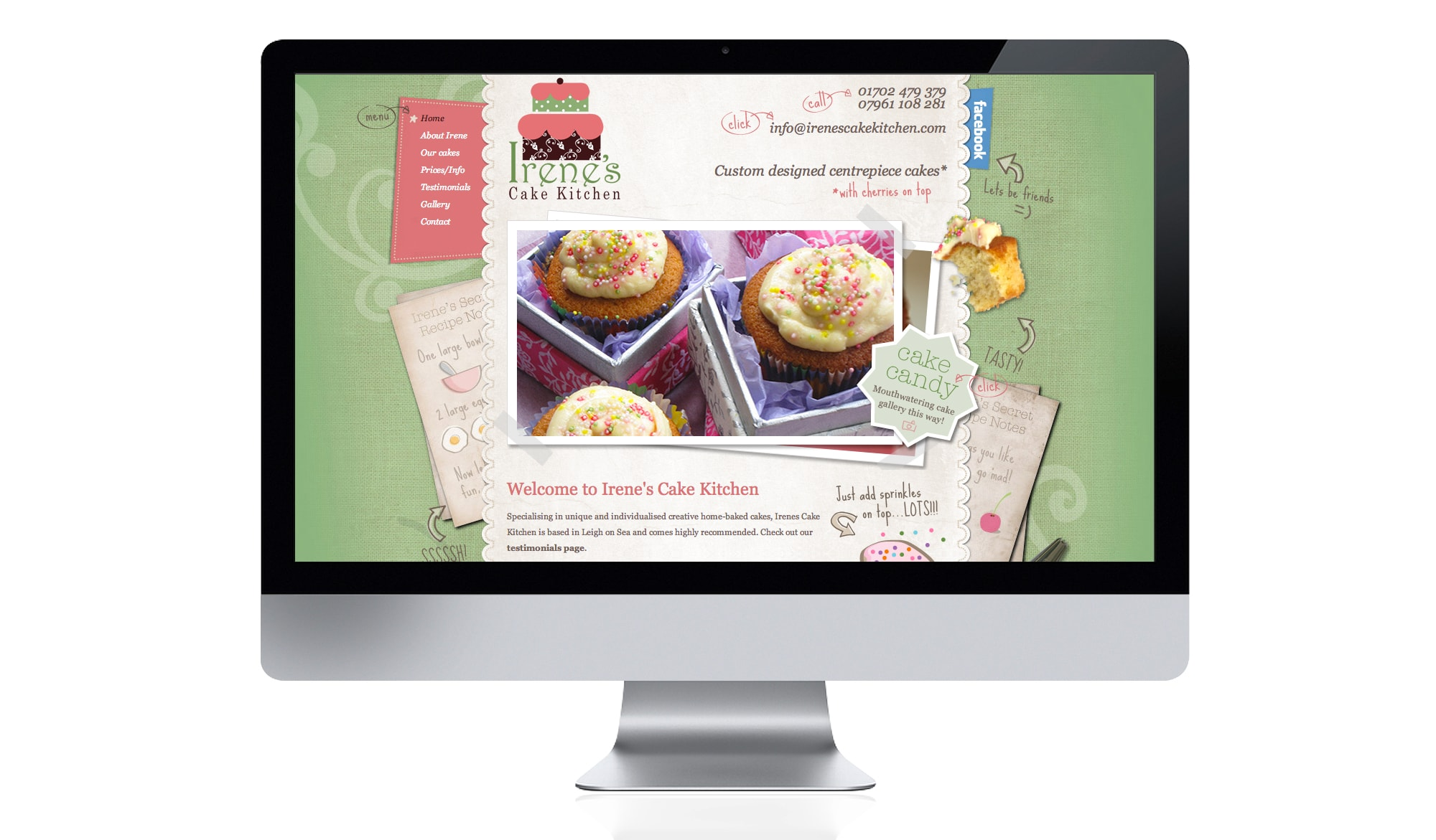 Irenes Cake Kitchen - home page