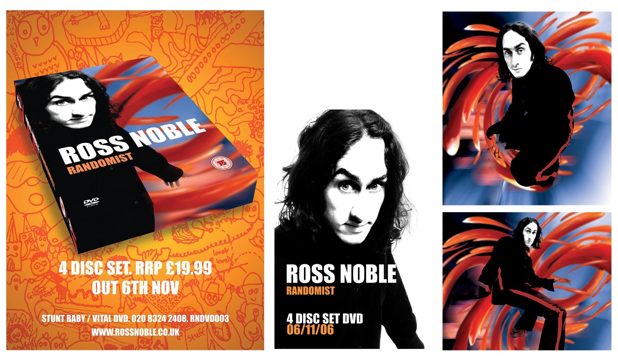 Ross Noble - Randomist - DVD advertising