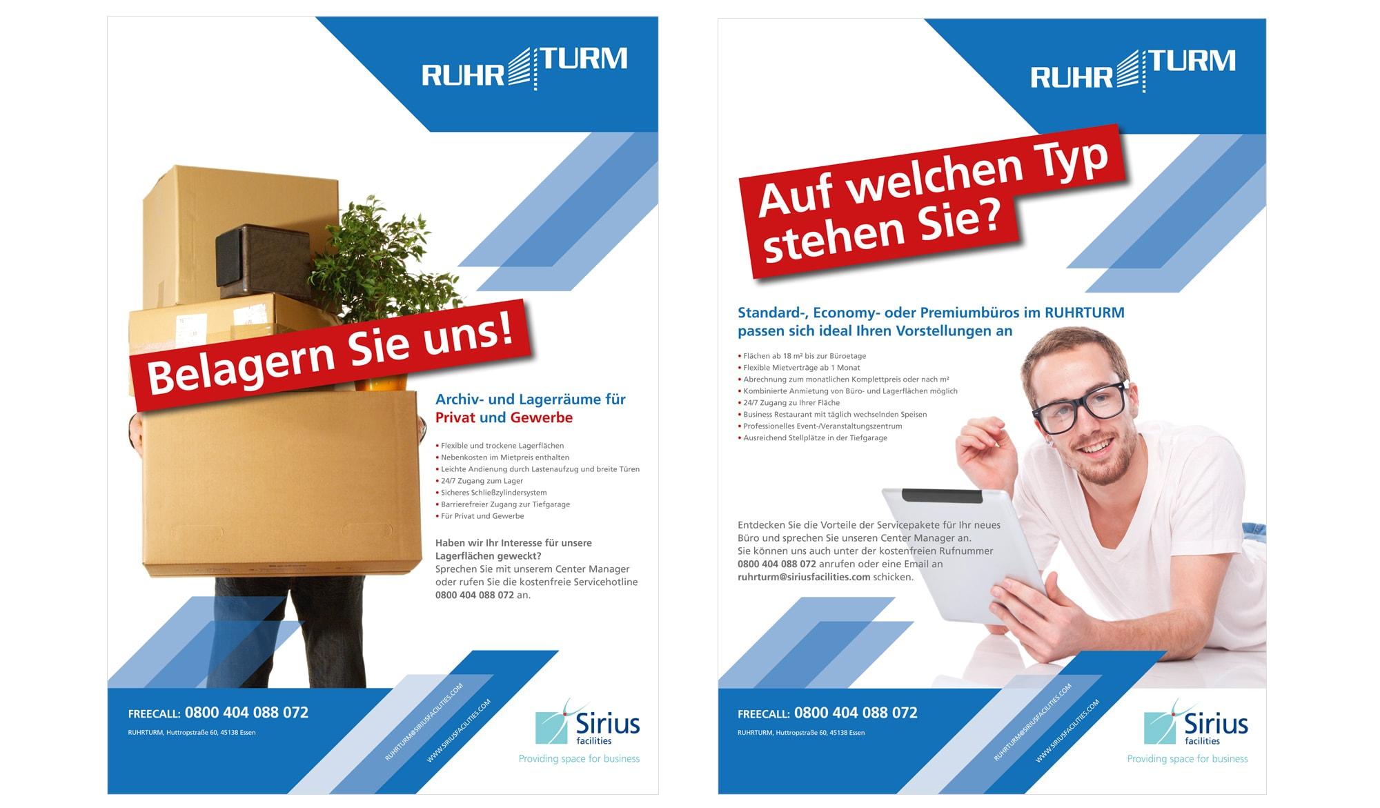 Rhurturm - adverts