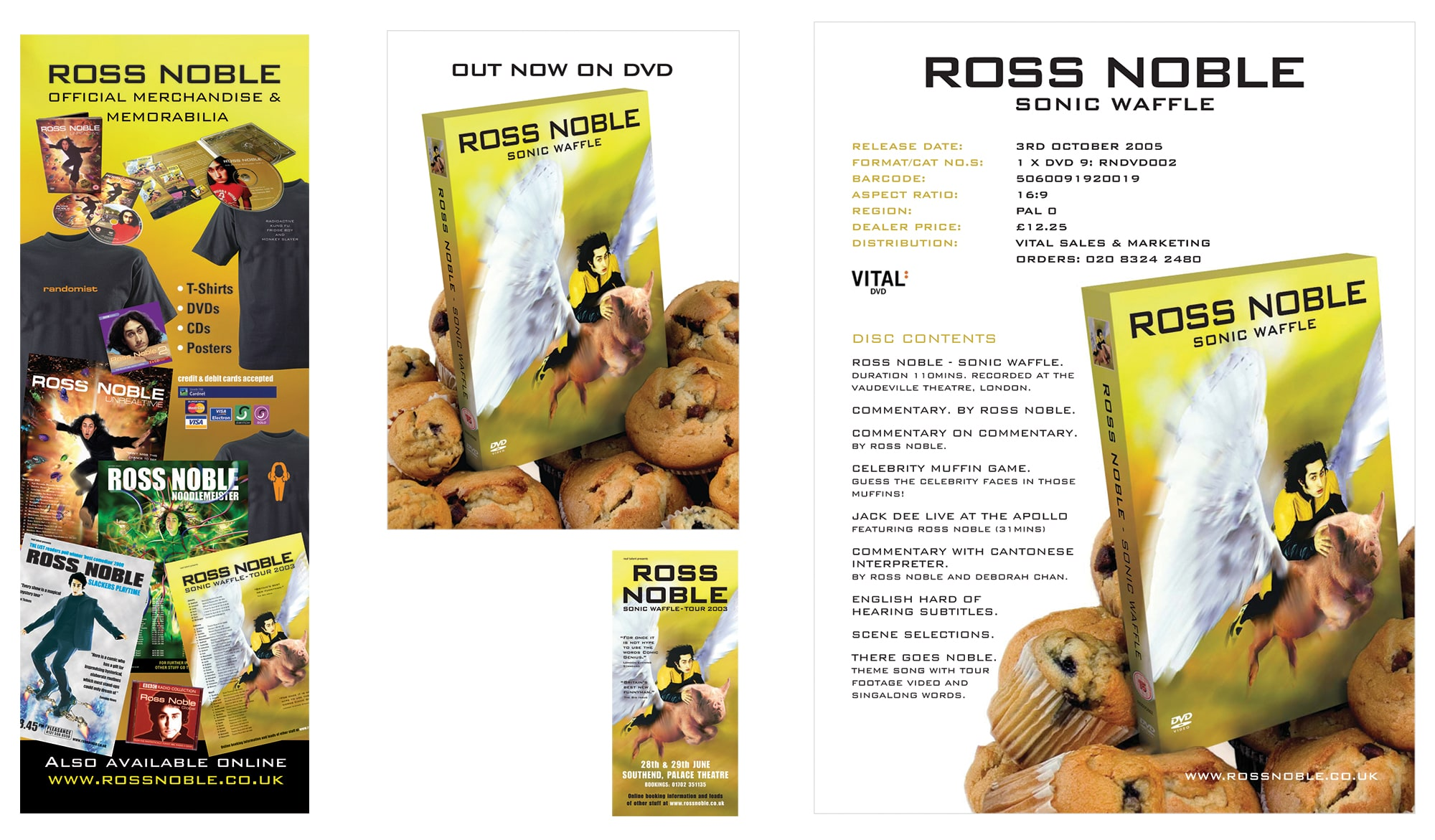 Ross Noble - Sonic Waffle DVD - advertising