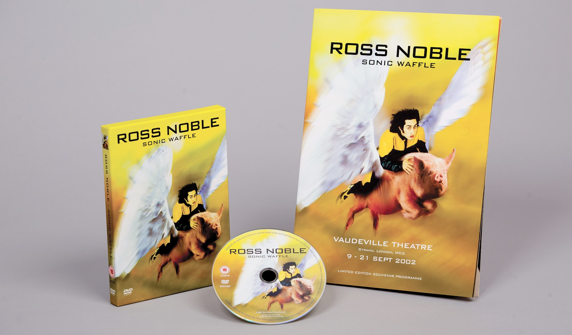 Ross Noble - Sonic Waffle DVD - packaging
