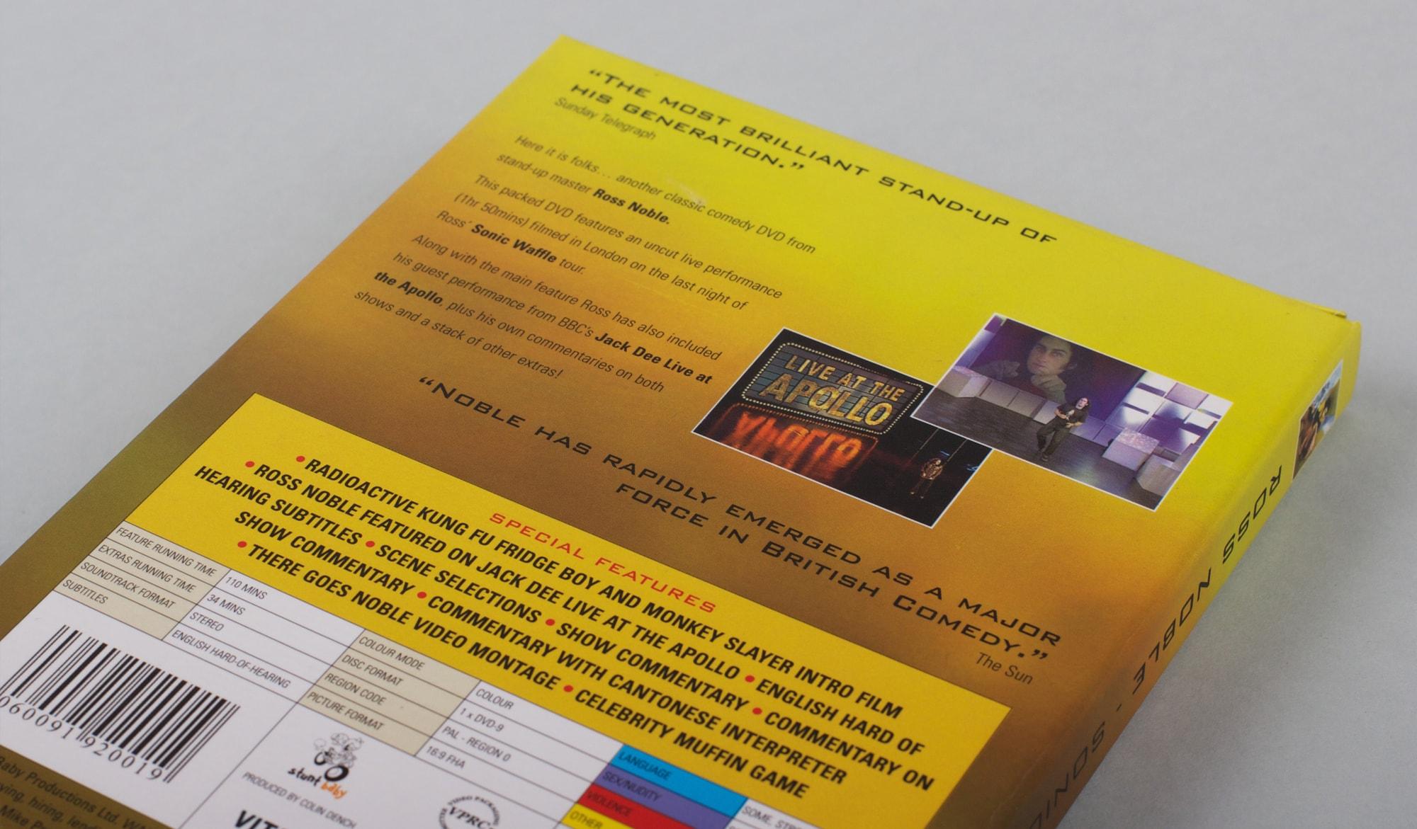 Ross Noble - Sonic Waffle DVD - back