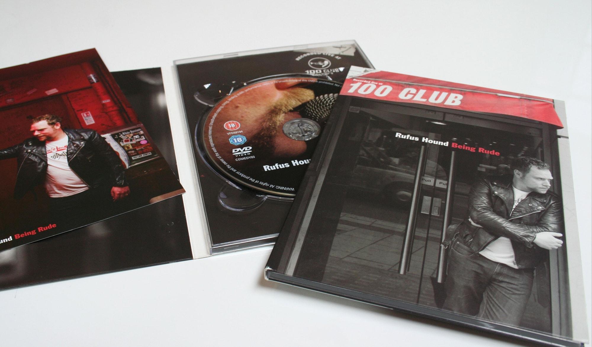 DVD packaging for Comedy Central inner case