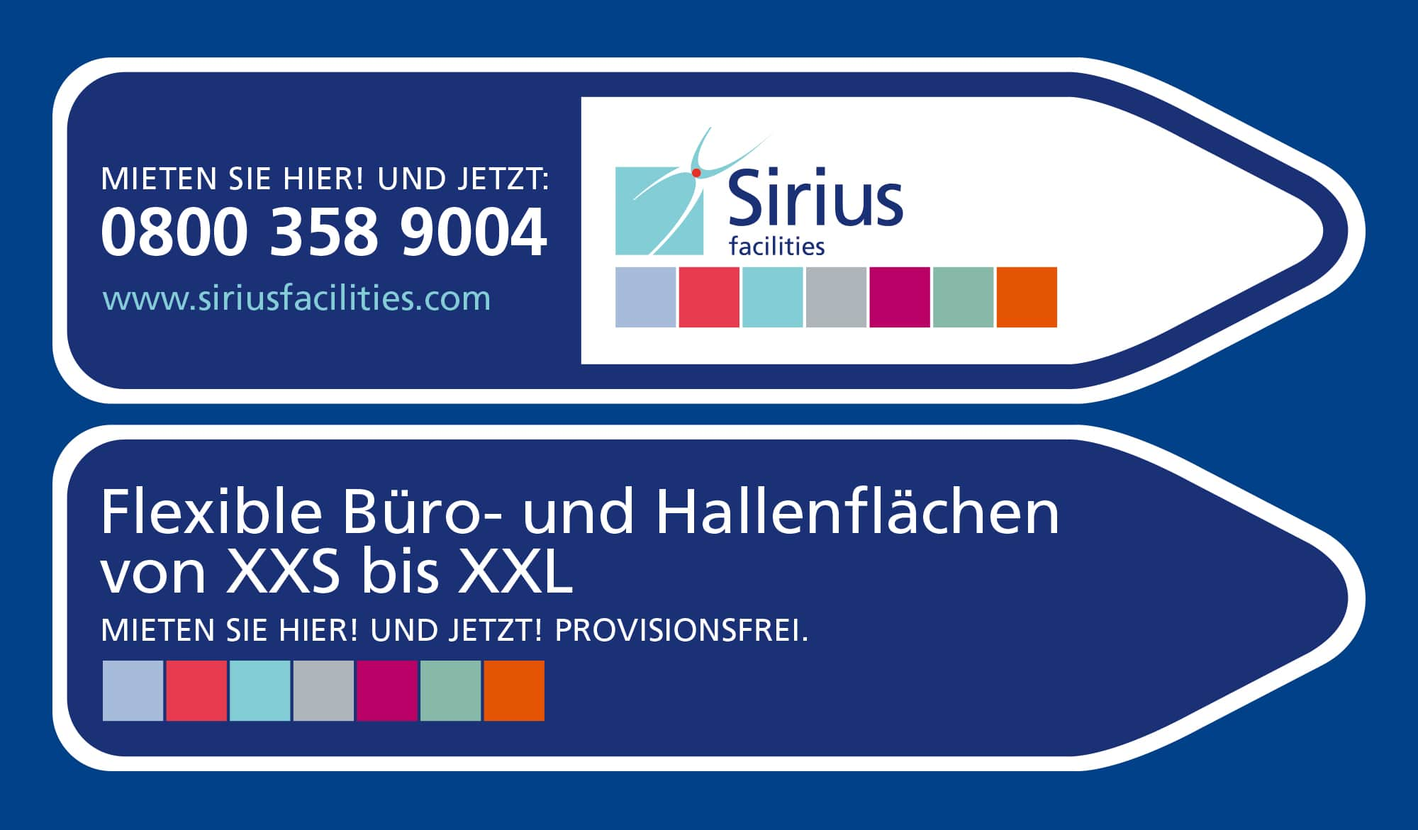 Sirius Facilities external signage