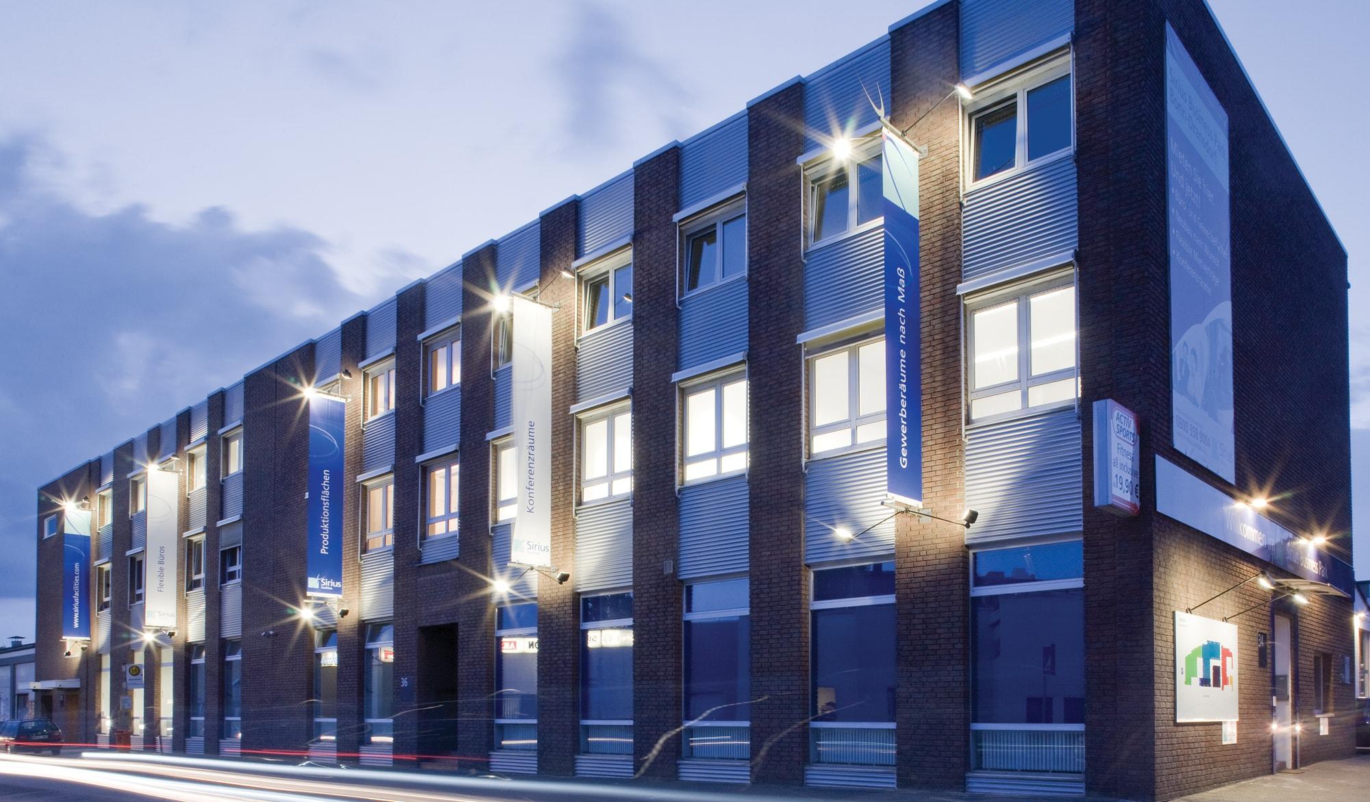 Sirius Facilities external building signage