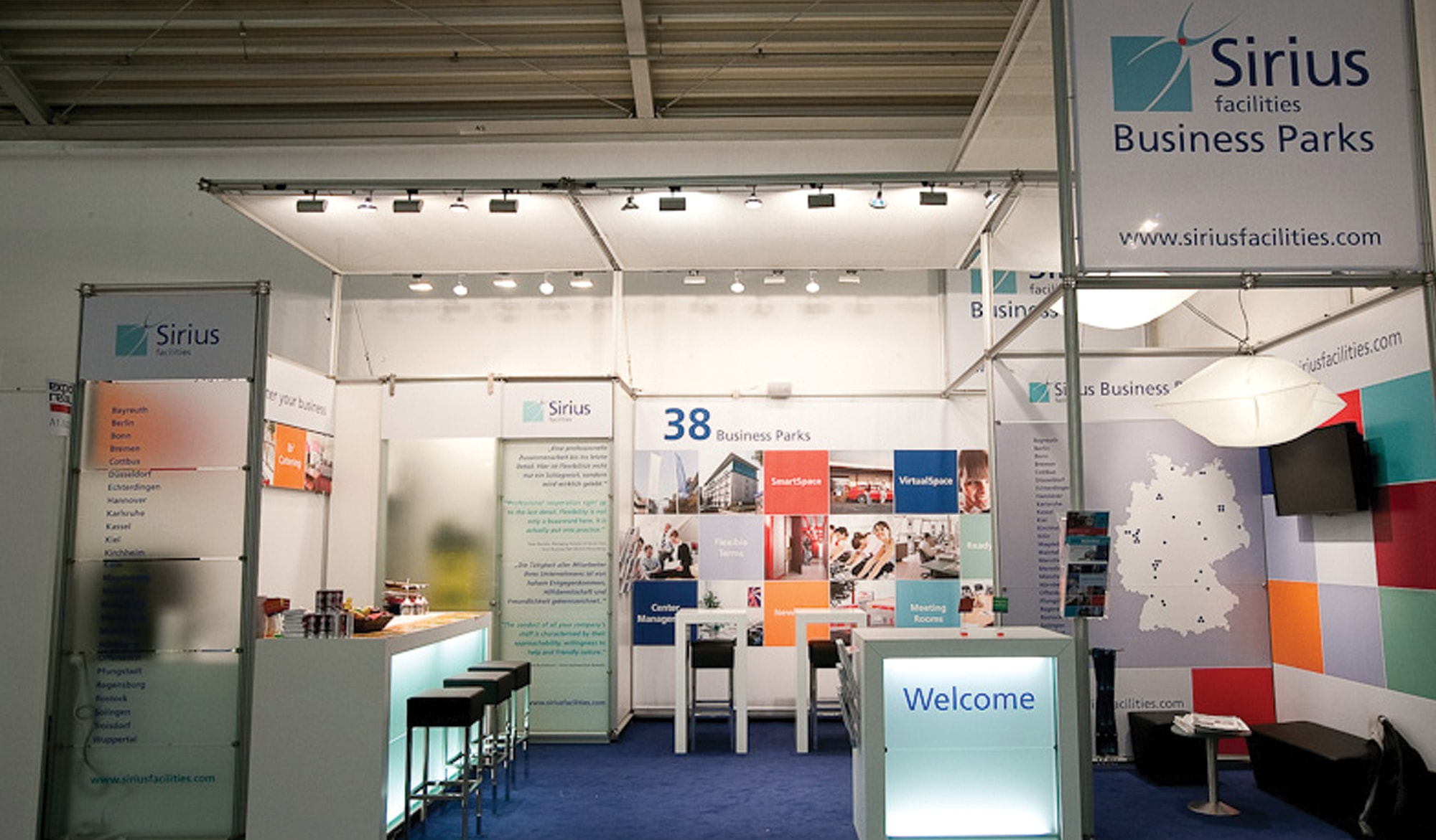 Sirius Facilities exhibition stand
