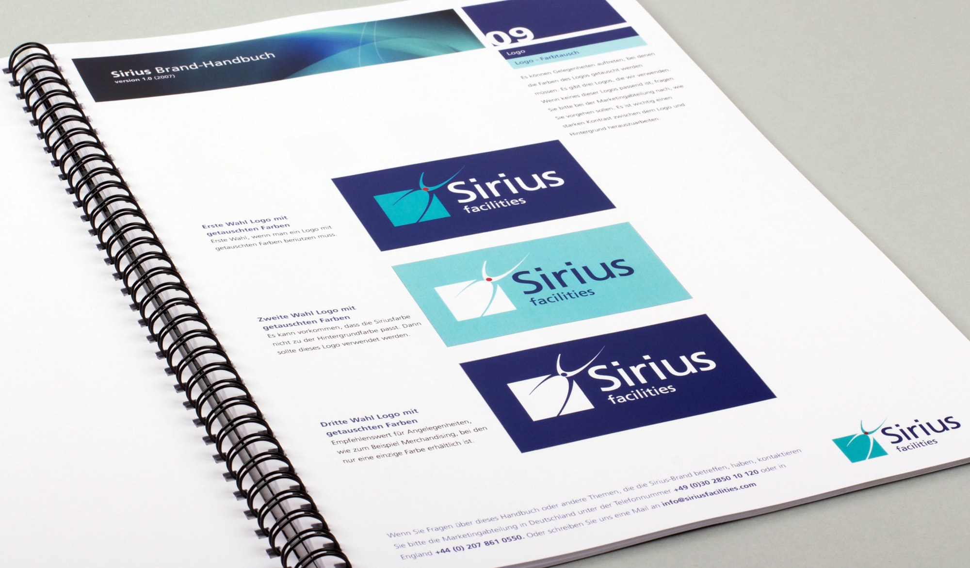 Sirius Facilities brand guidelines