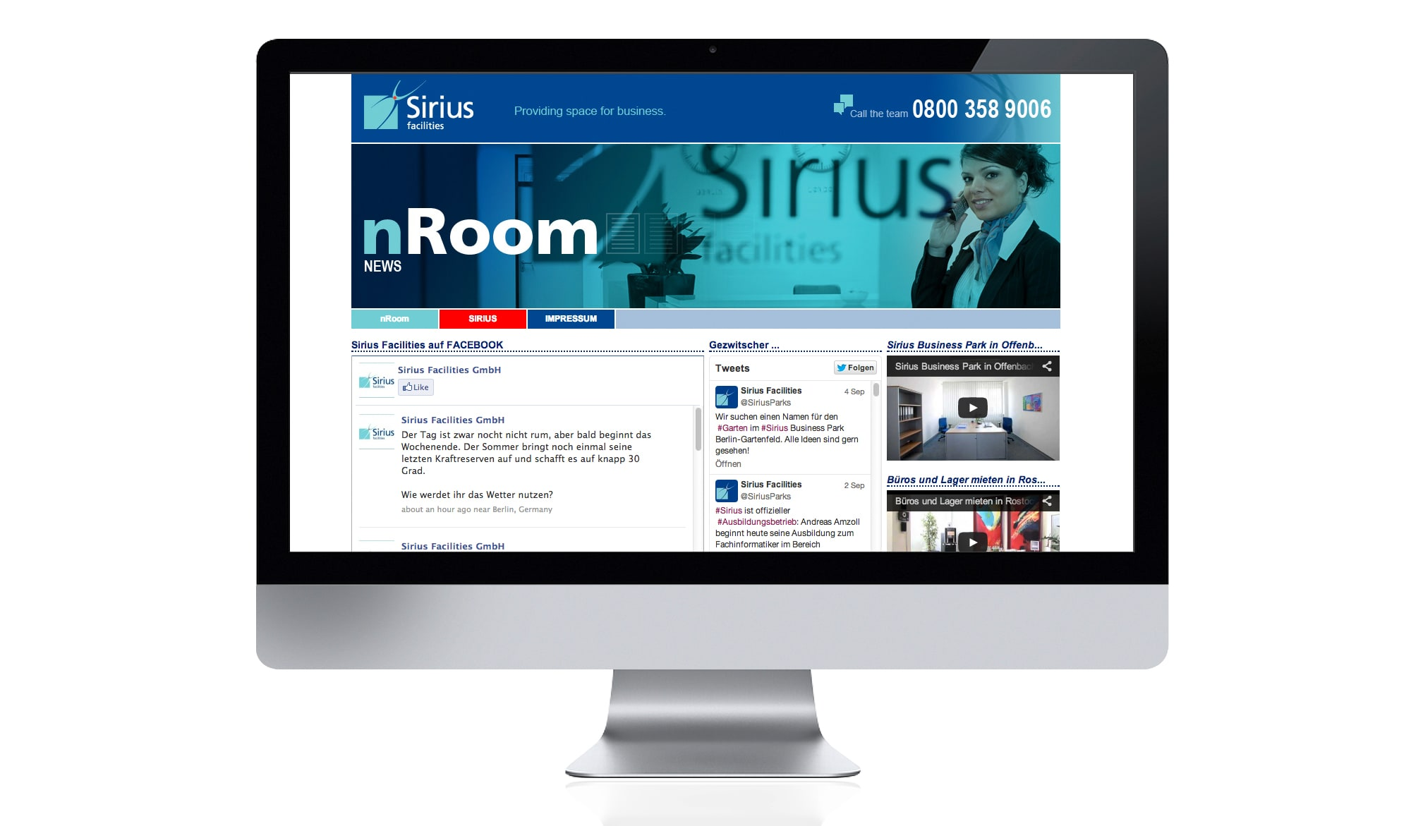 Sirius Facilities website - news page