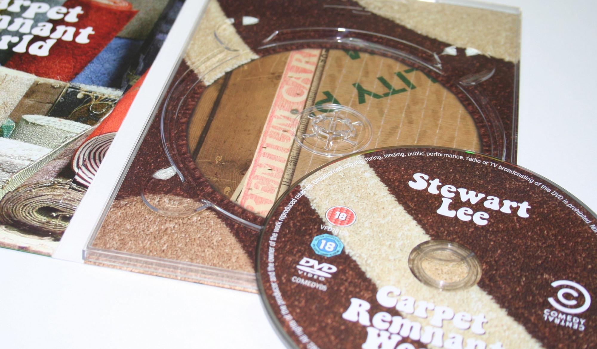 Stewart Lee - carpet world DVD - disc