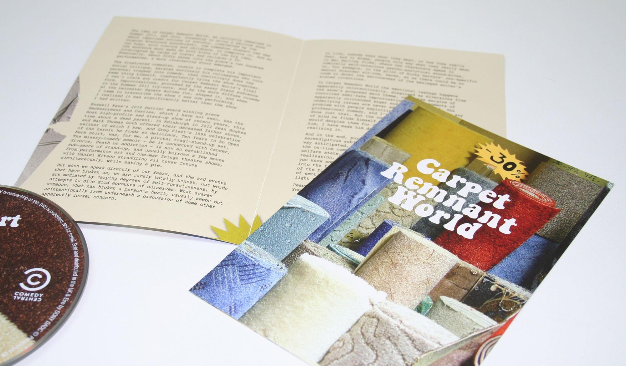 Stewart Lee - carpet world DVD - booklet
