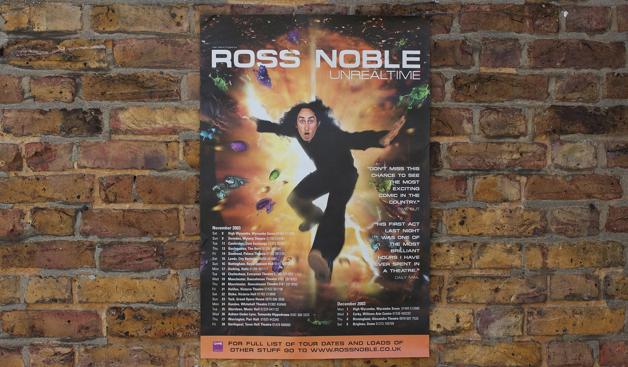 Ross Noble - Unrealtime DVD - poster