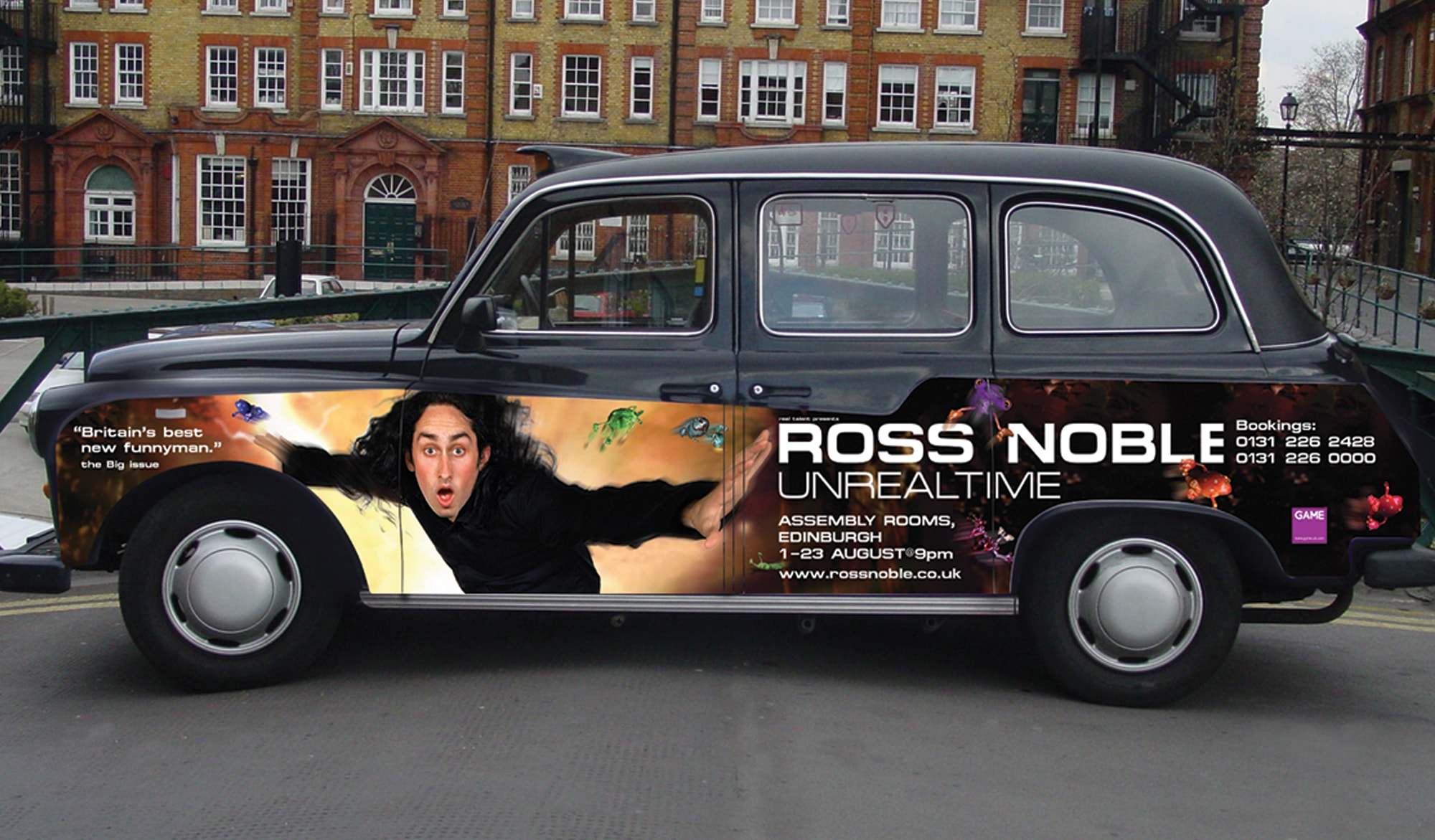 Ross Noble - Unrealtime DVD - advertising
