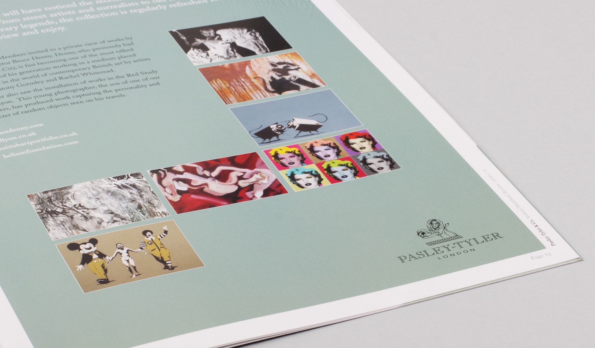 Pasley Tyler annual report brochure