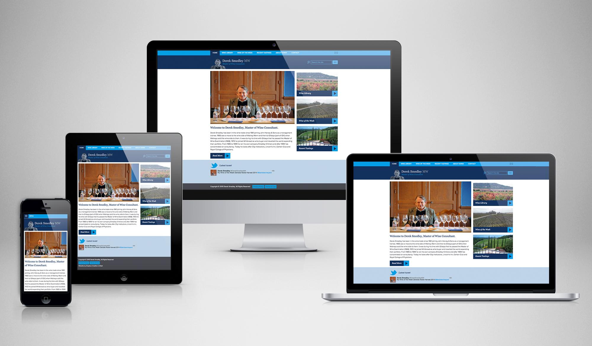 Derek Smedley Responsive website design