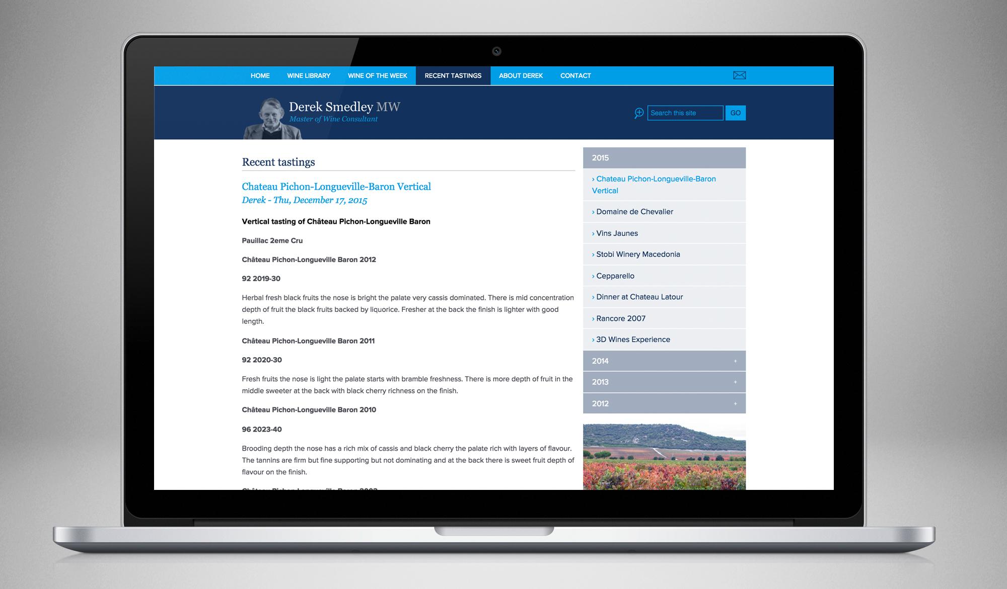 Derek Smedley website