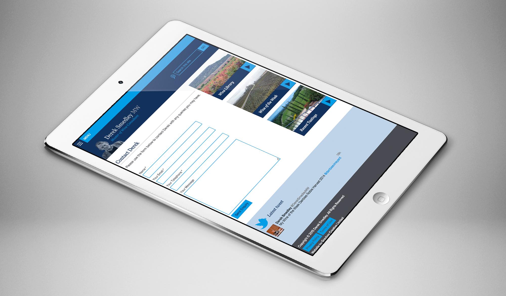 Derek Smedley tablet page
