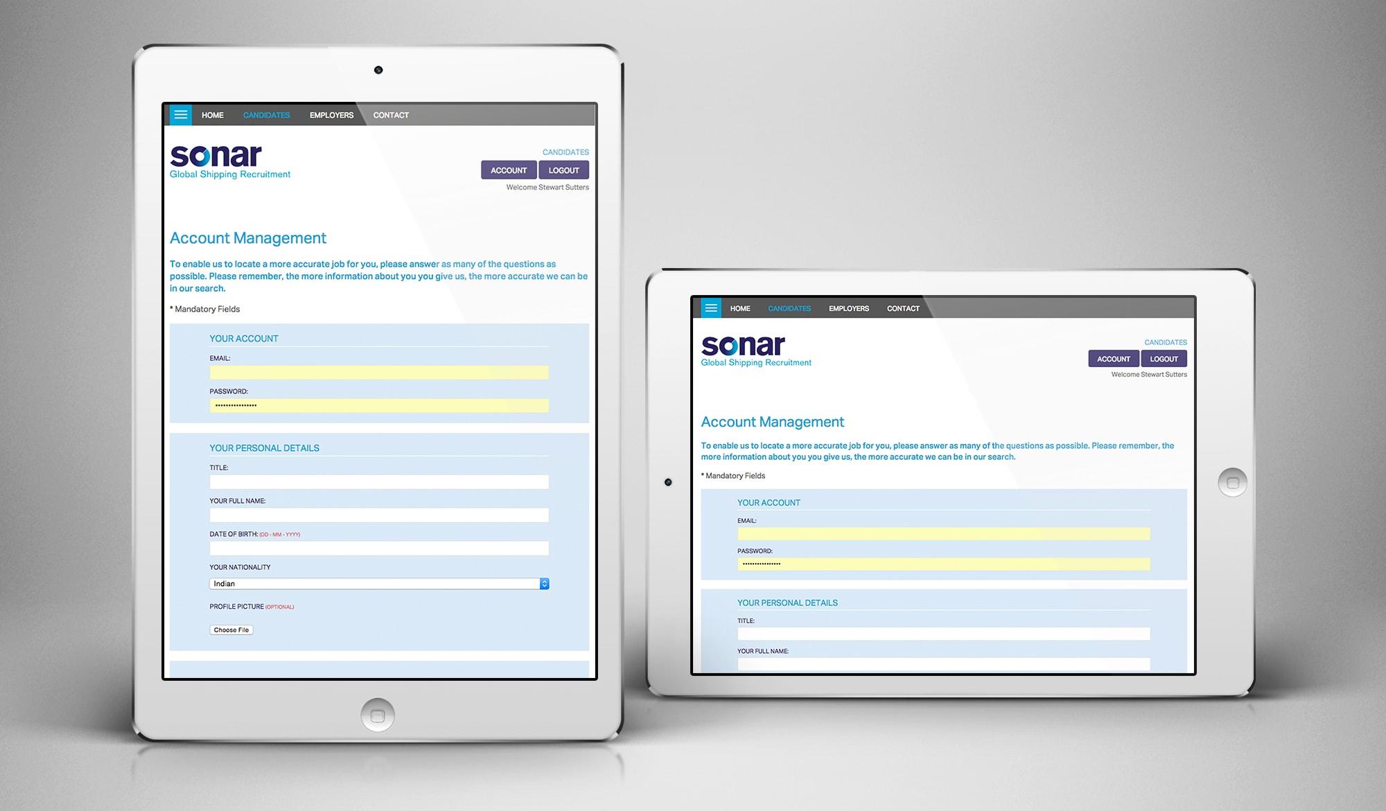 Sonar recruitment tablet 2