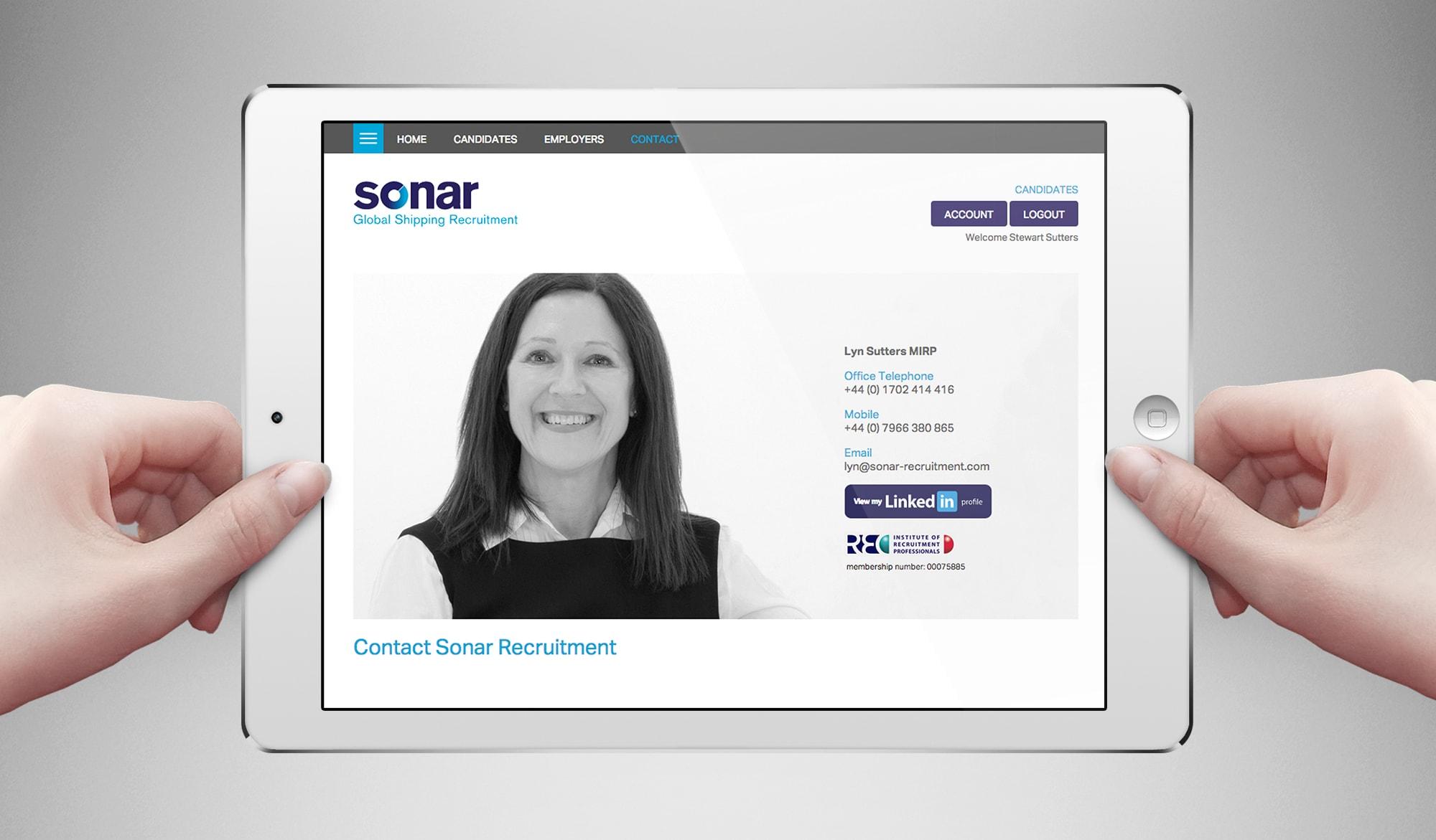 Sonar recruitment tablet landscape
