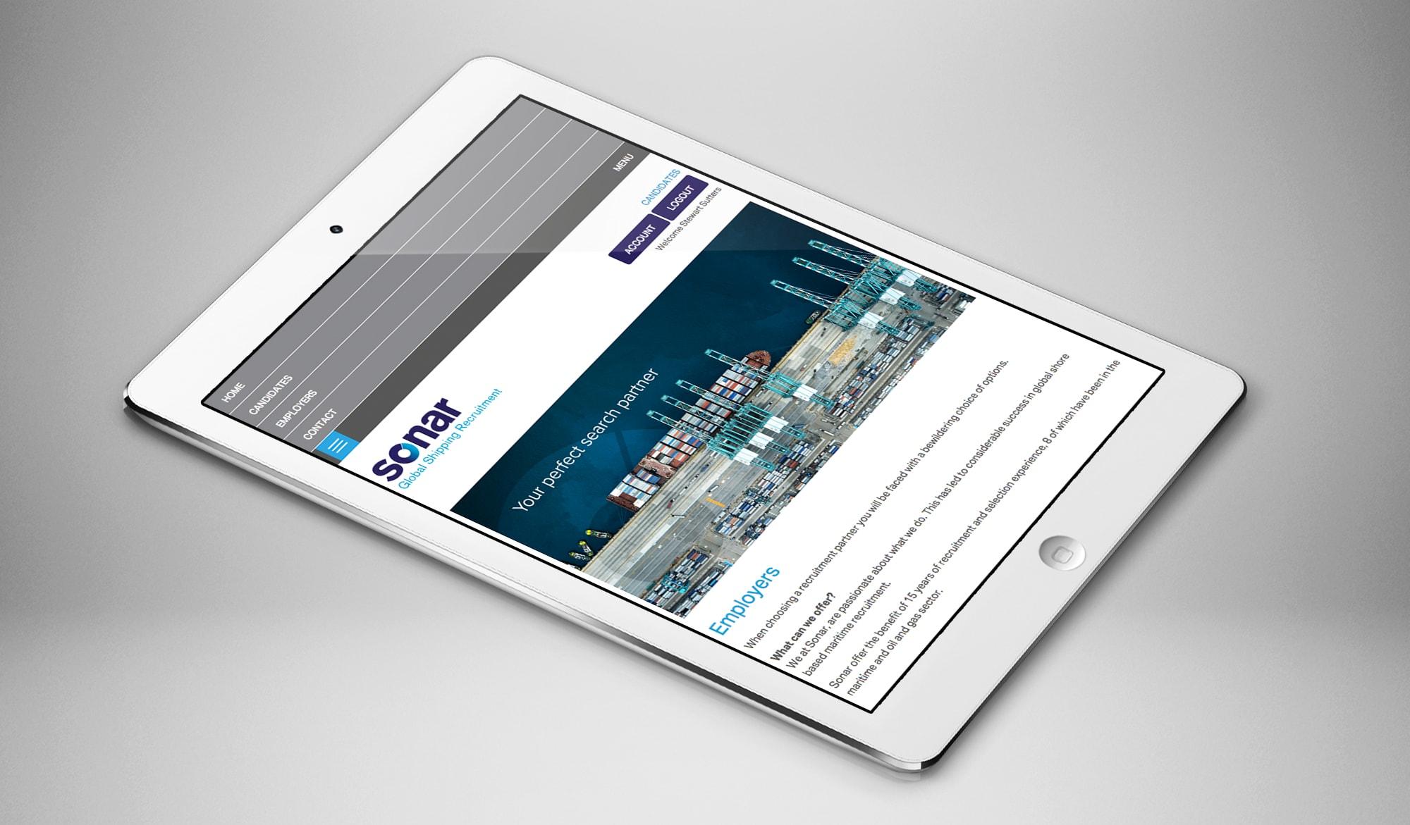 Sonar recruitment tablet