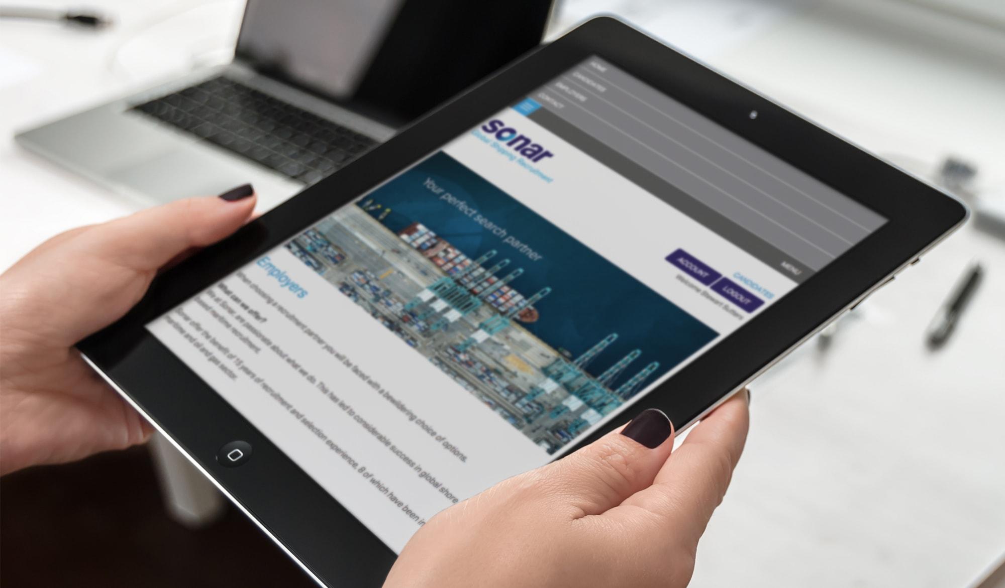 Sonar recruitment tablet view