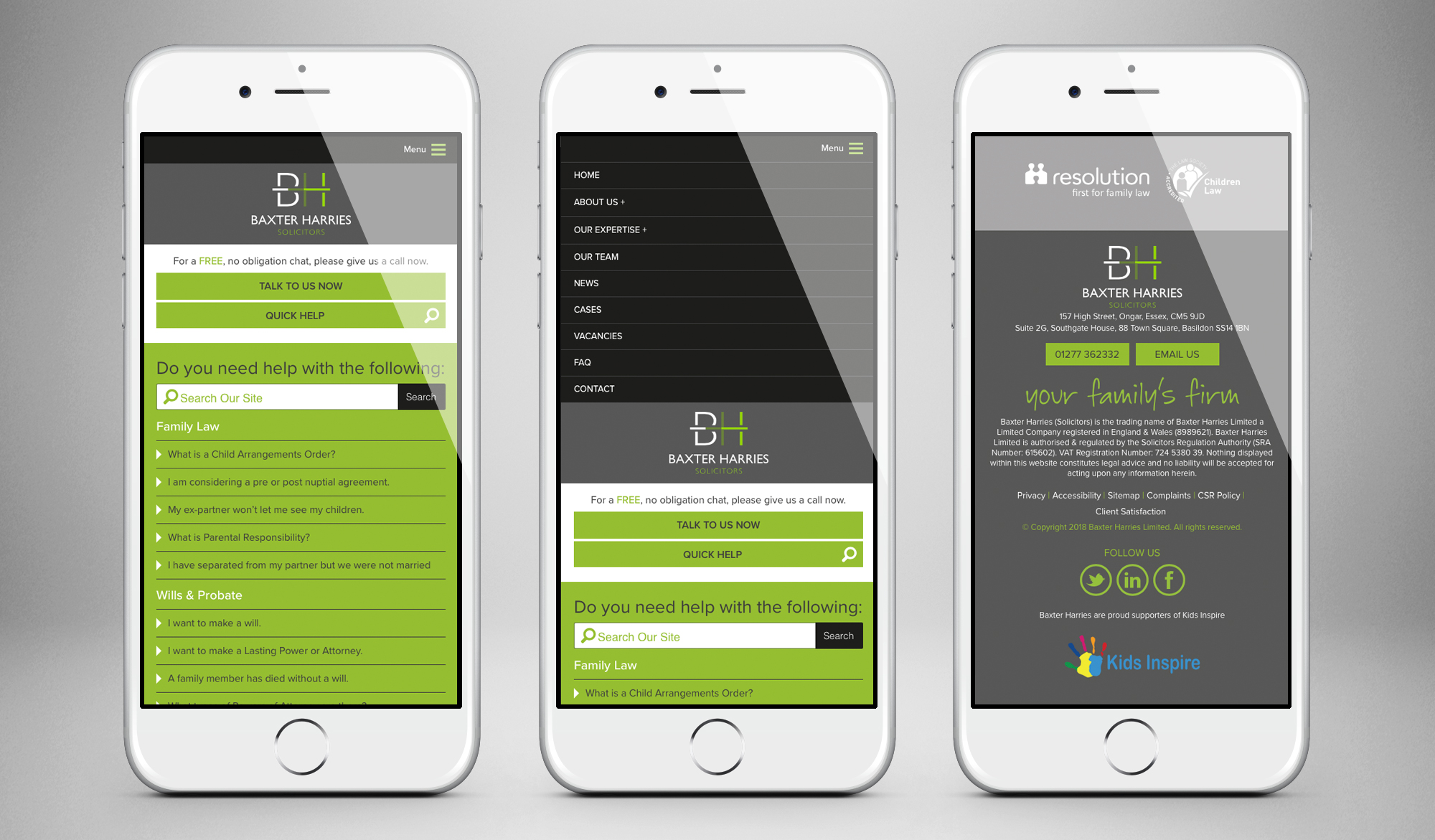 Baxter Harries Solicitors mobile