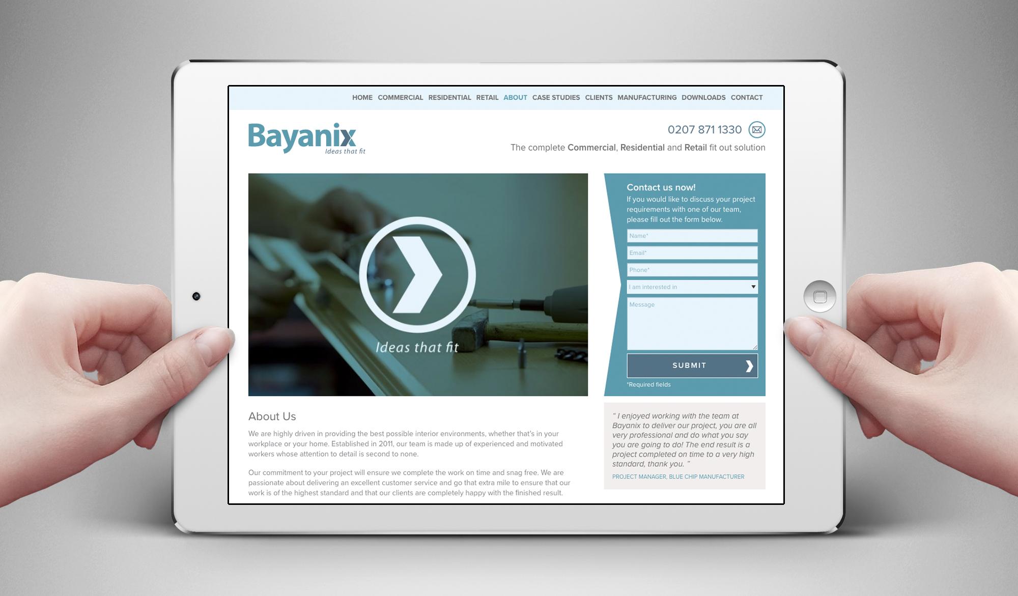 Bayanix website - responsive