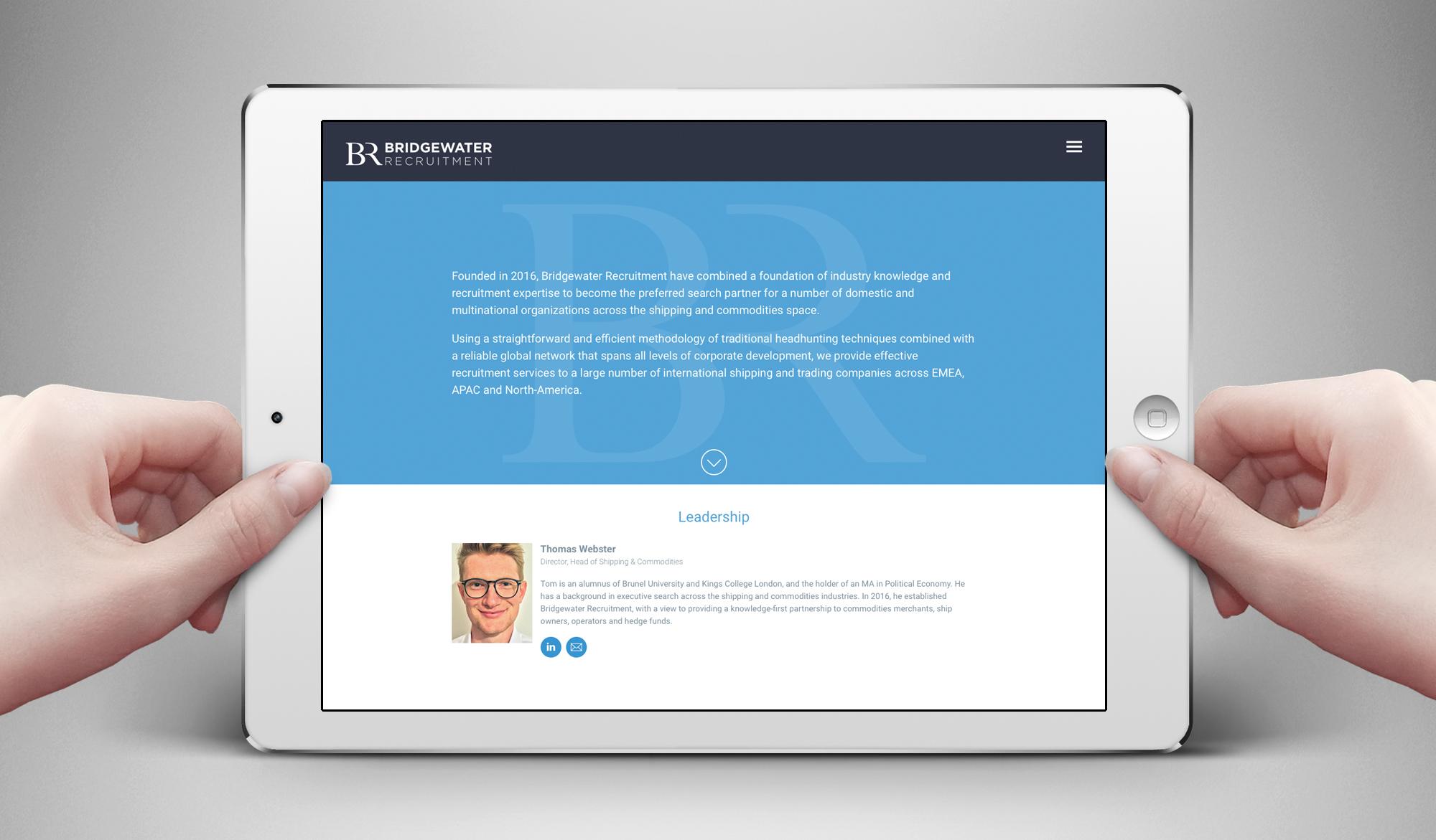 Bridgewater Recruitment tablet