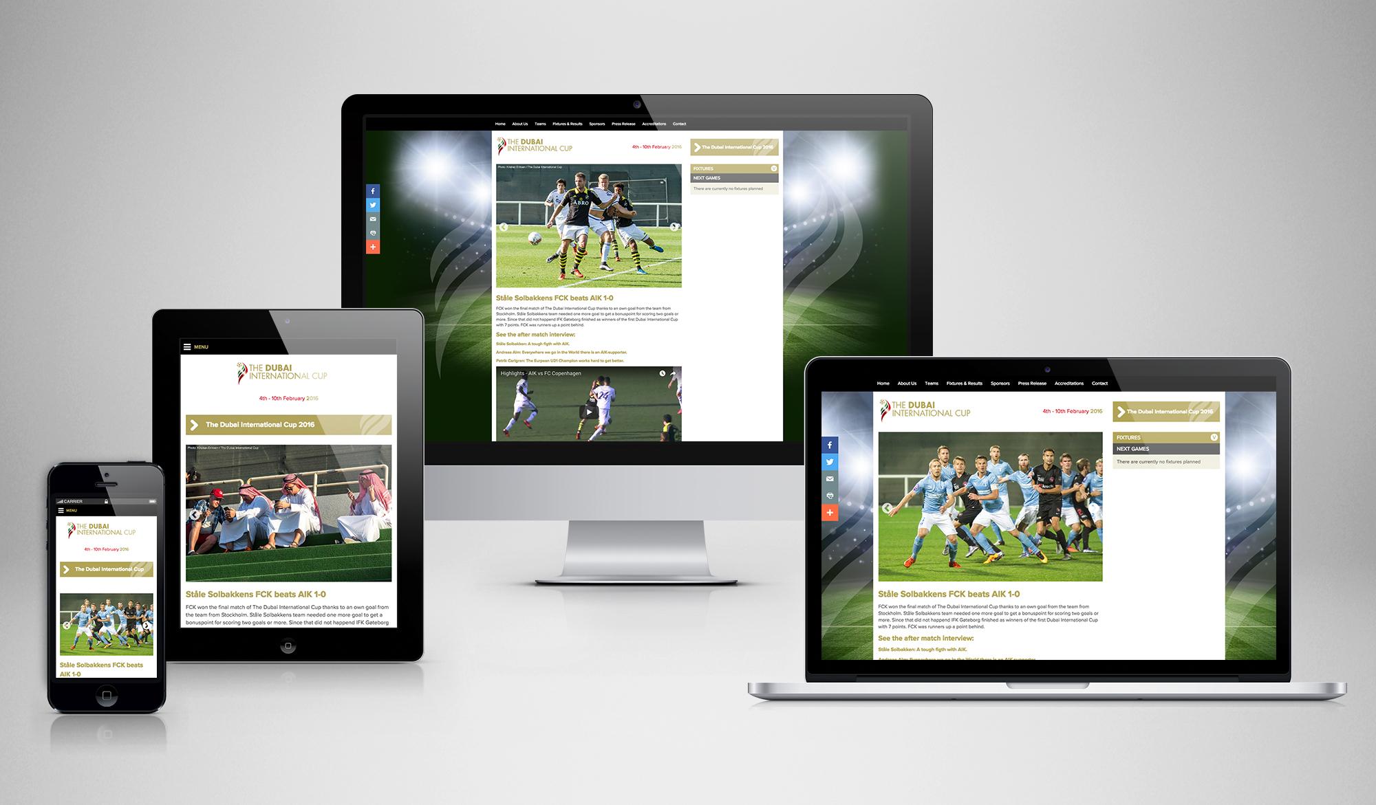 The Dubai International Cup responsive website